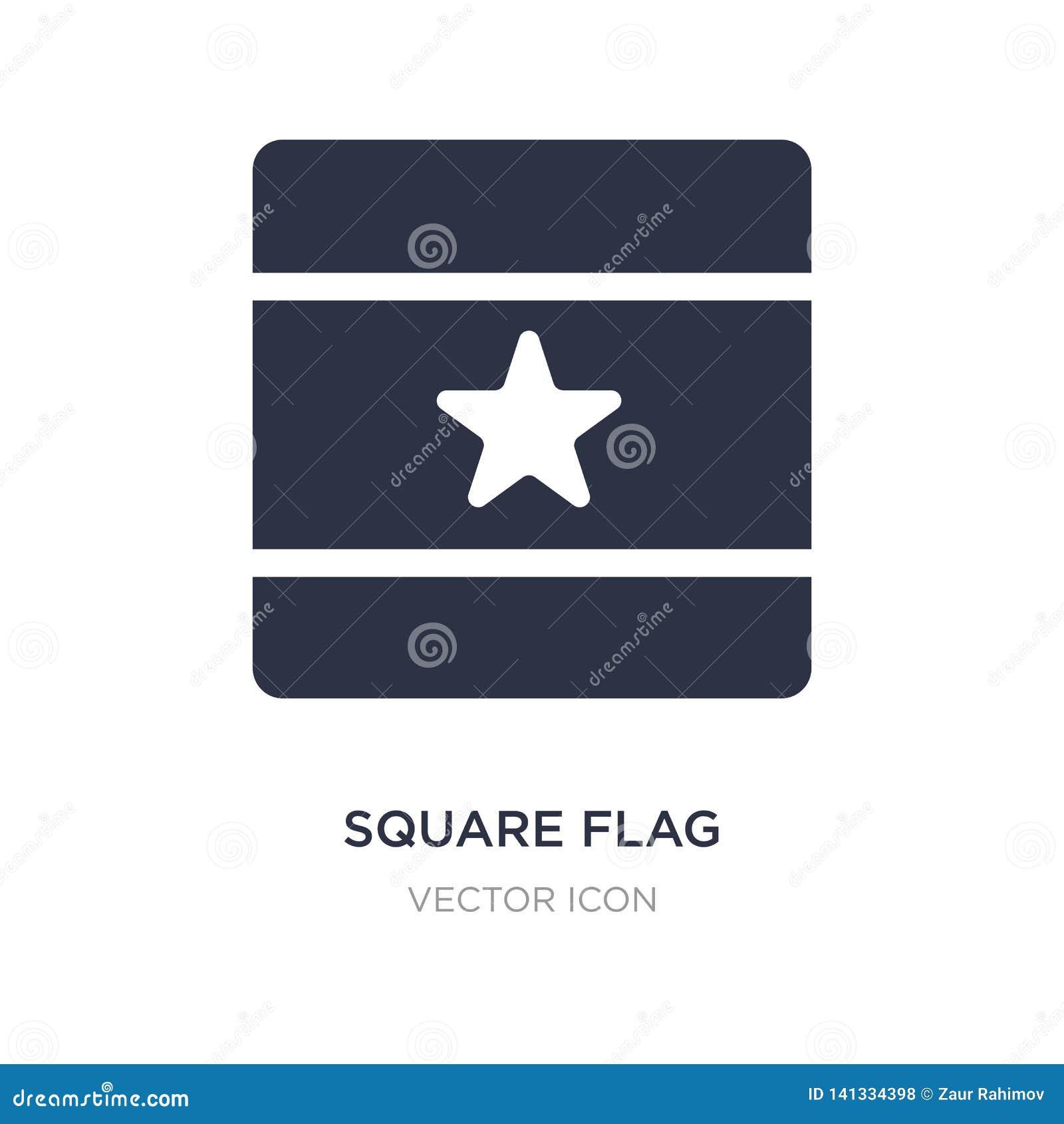 Icona quadrata della bandiera su fondo bianco Illustrazione semplice dell elemento dal concetto delle bandiere e delle mappe