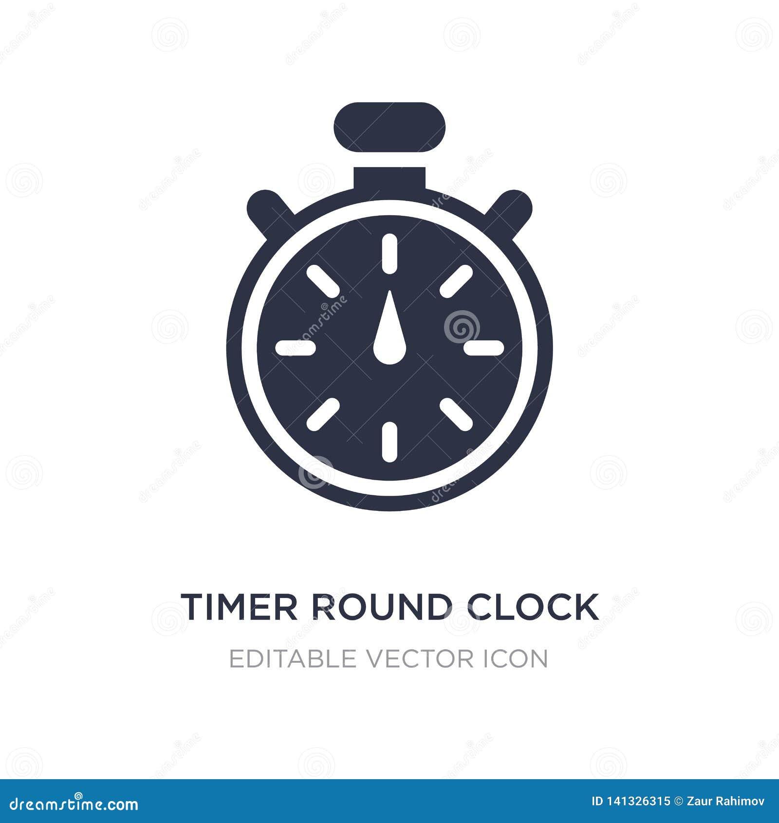 Icona rotonda dell orologio del temporizzatore su fondo bianco Illustrazione semplice dell elemento dal concetto degli utensili e