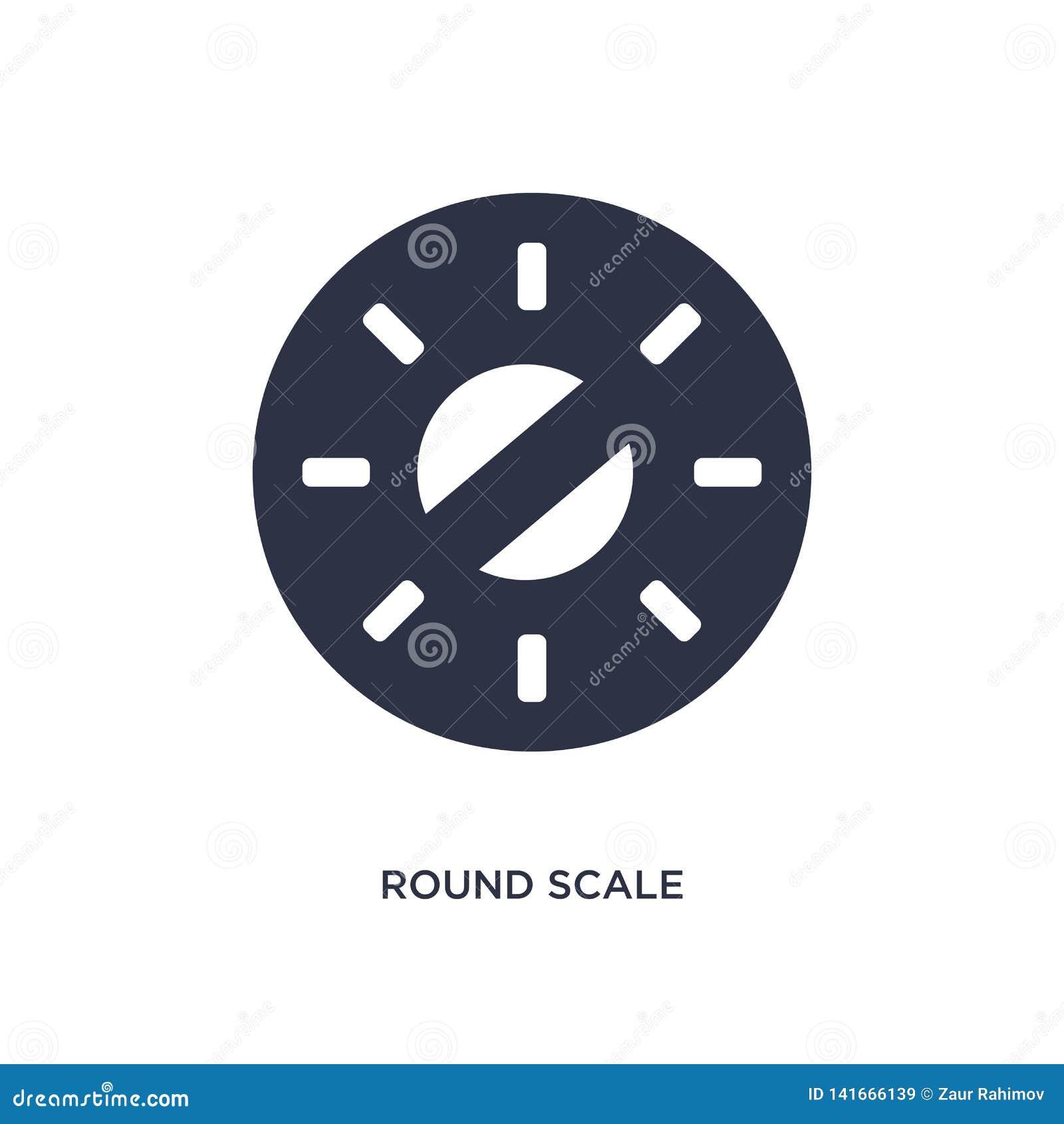 Icona rotonda della scala su fondo bianco Illustrazione semplice dell elemento dal concetto di misura