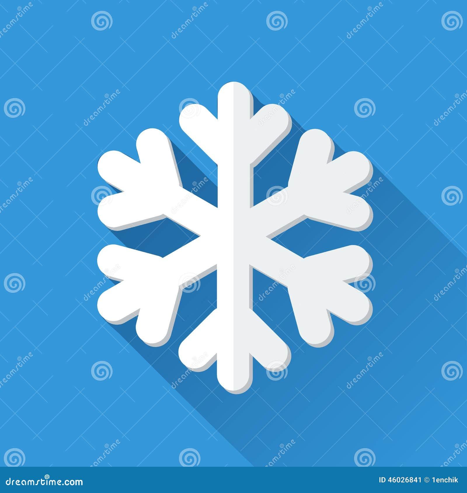 Icona semplice del fiocco di neve nello stile piano for Semplice creatore di piano gratuito