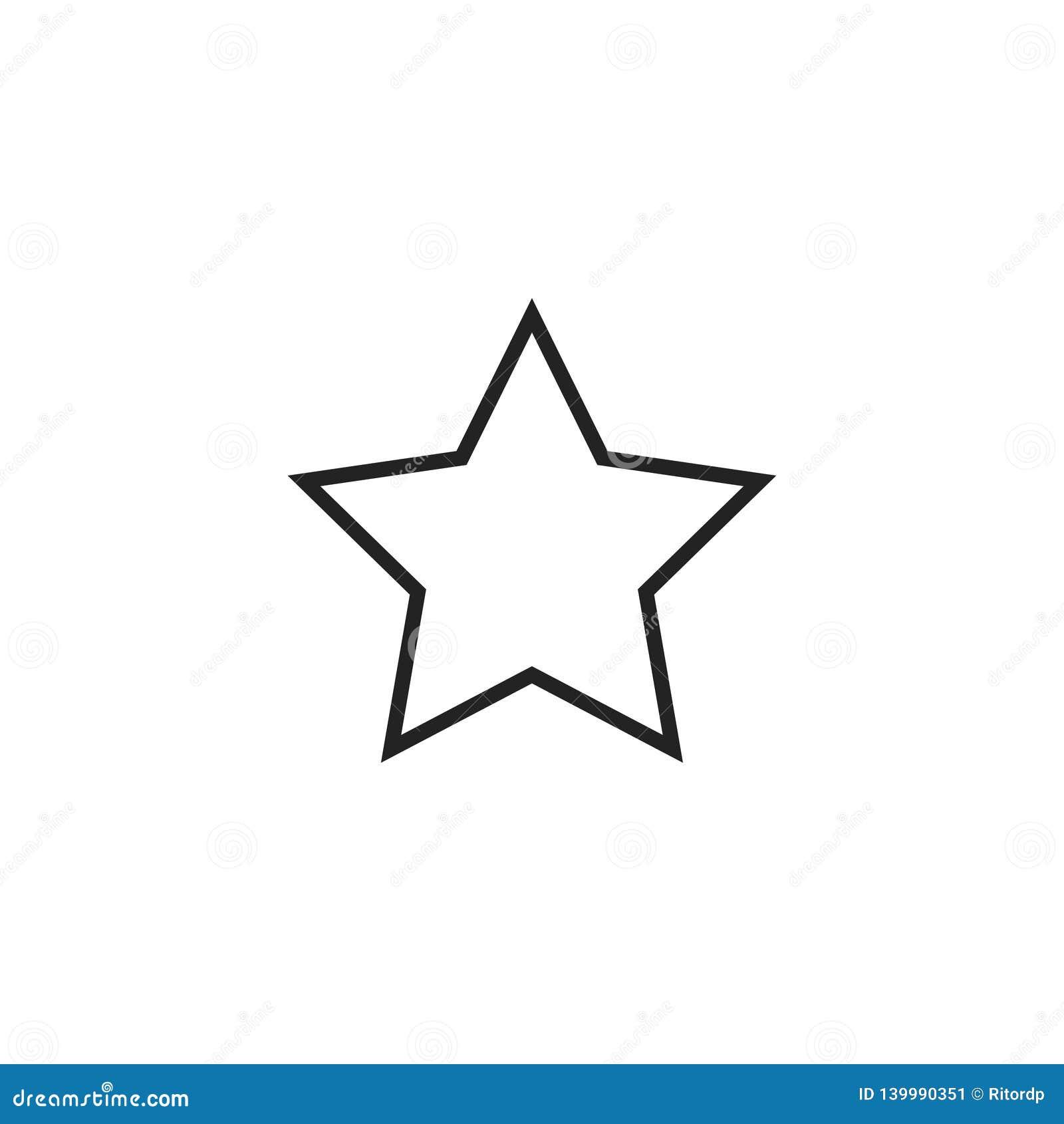 Icona, simbolo o logo di vettore del profilo della stella
