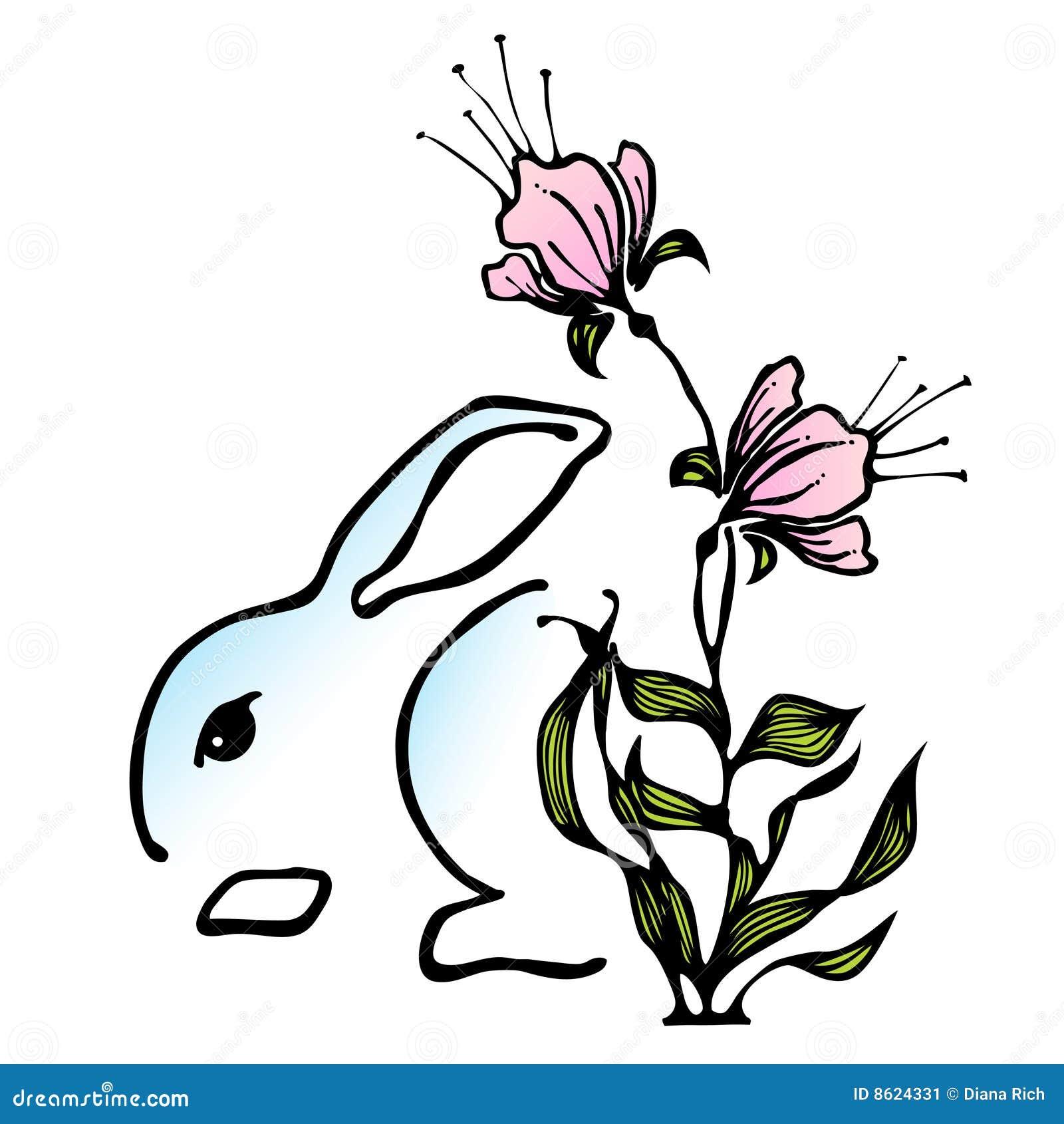 Icona stilizzata del coniglietto di pasqua immagine stock - Lettere stampabili del coniglietto di pasqua ...
