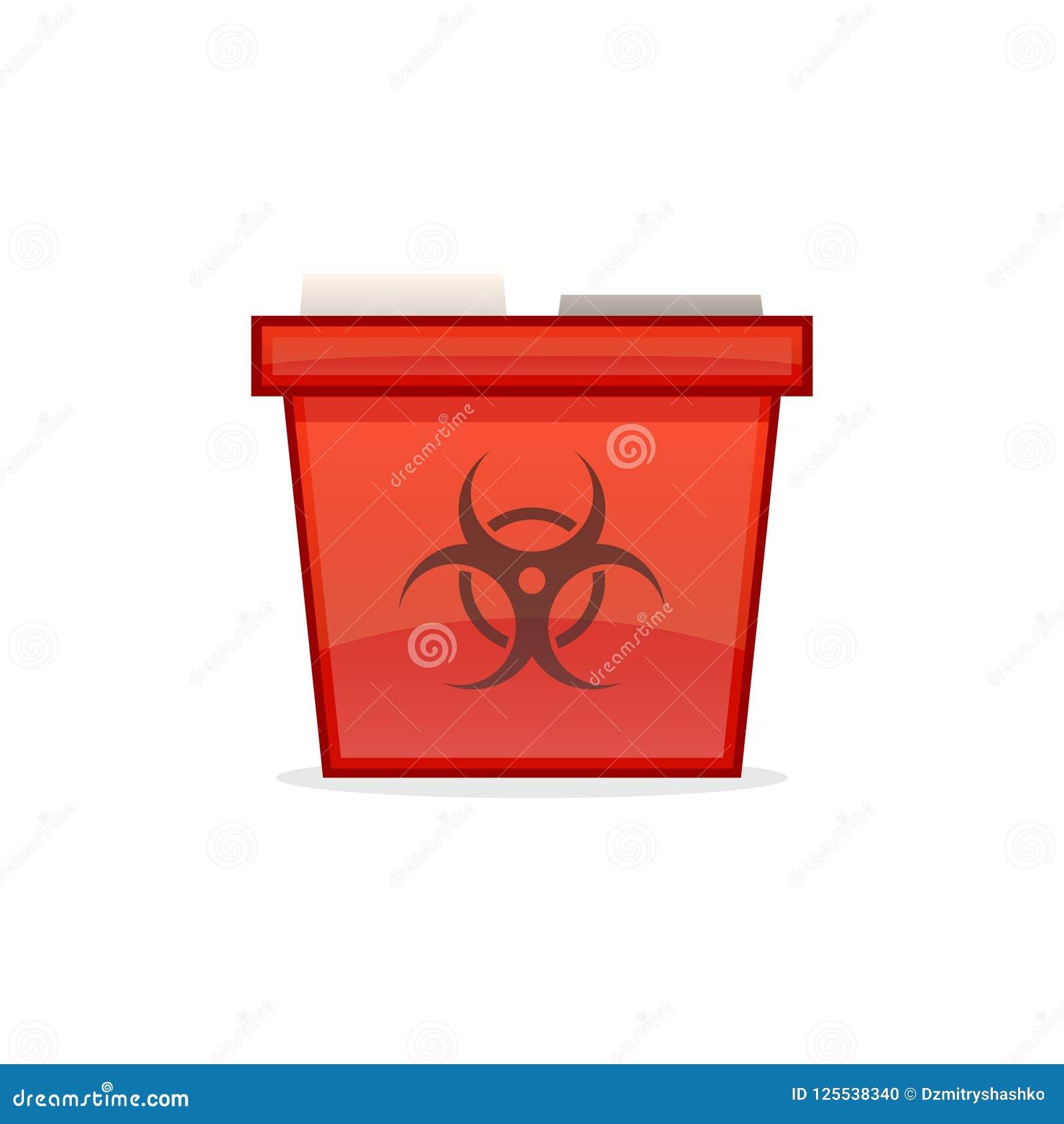 Icona tagliente del contenitore