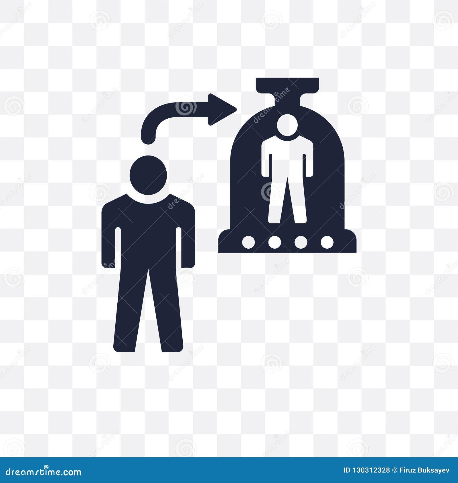 Icona trasparente di clonazione Progettazione di clonazione di simbolo da tecnologia futura