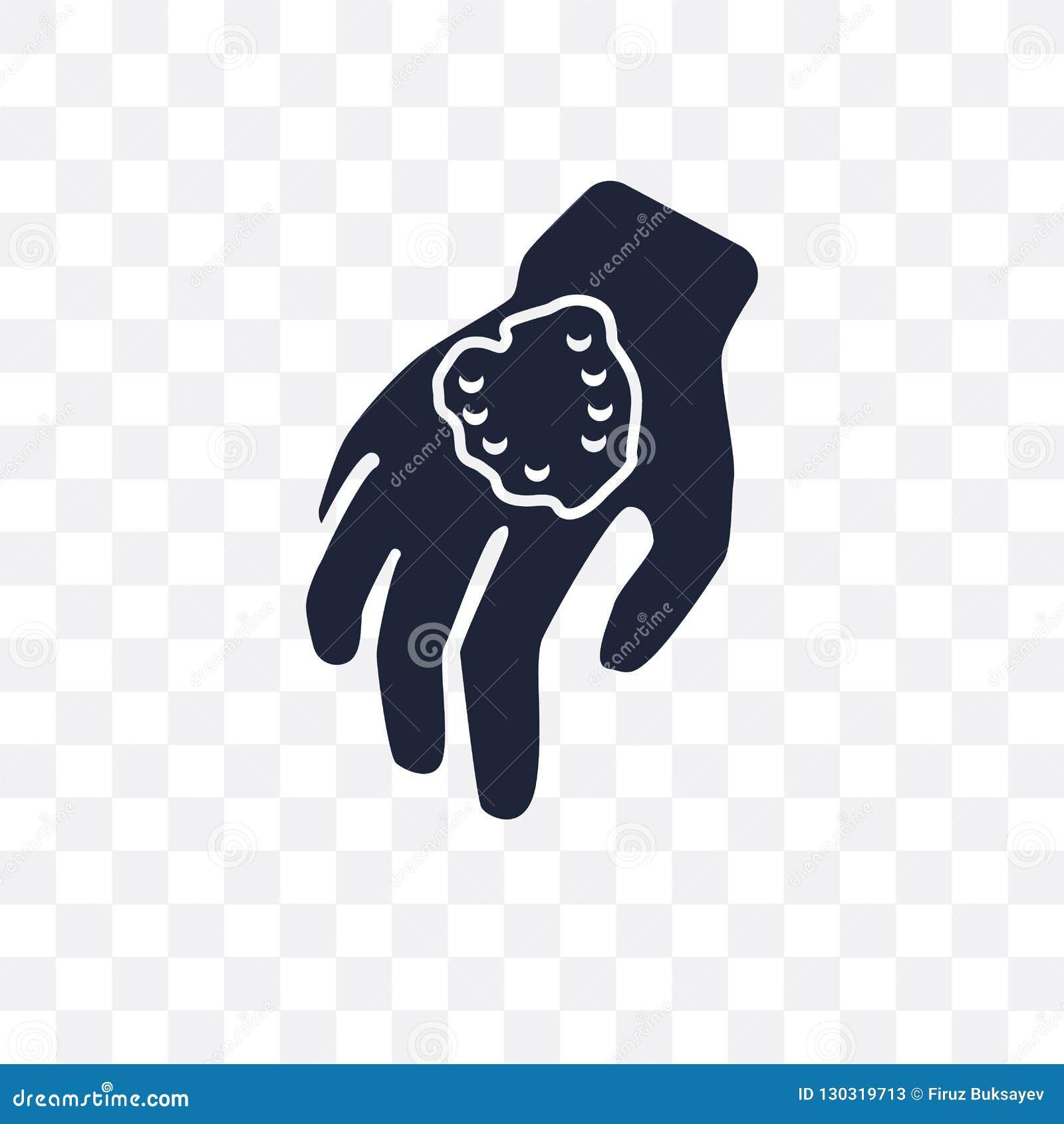 Icona trasparente di peste Progettazione di simbolo di peste dal coll di malattie