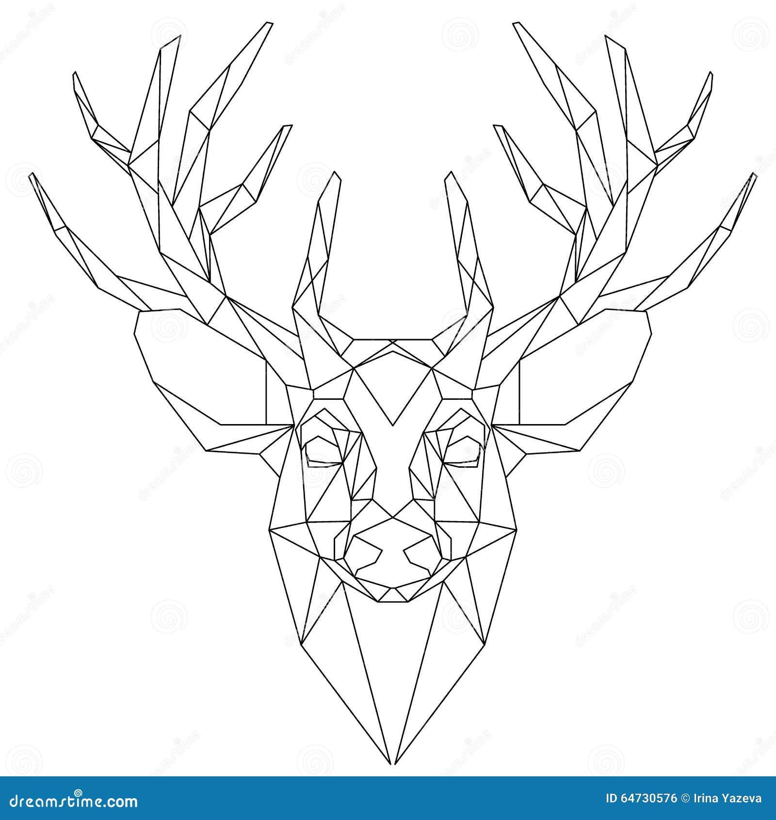 Icona triangolare capa dei cervi