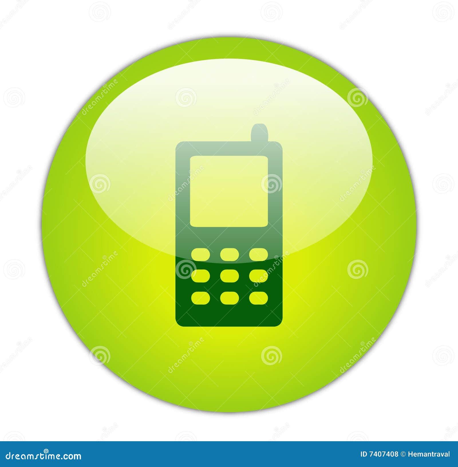 Icona verde vetrosa del telefono mobile illustrazione di for Mobile telefono