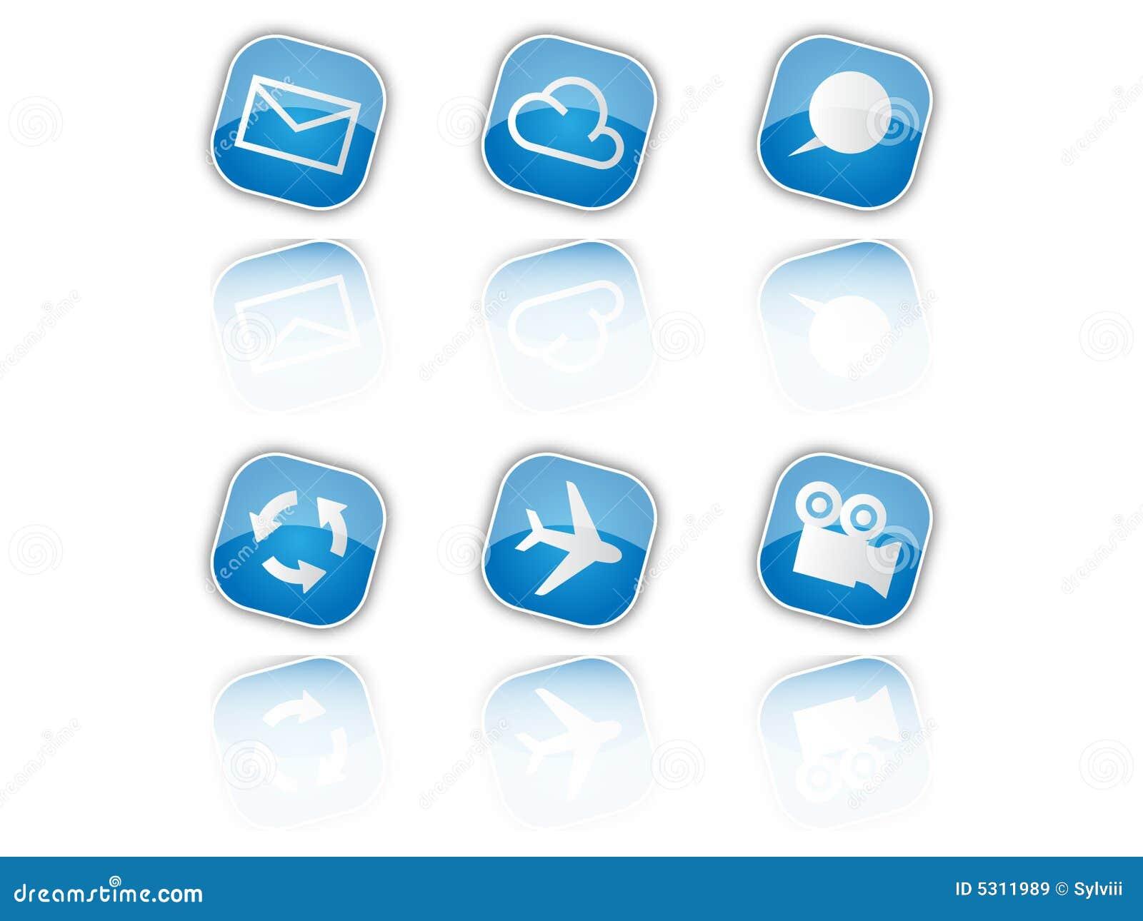 Download Icone blu illustrazione vettoriale. Illustrazione di riciclaggio - 5311989