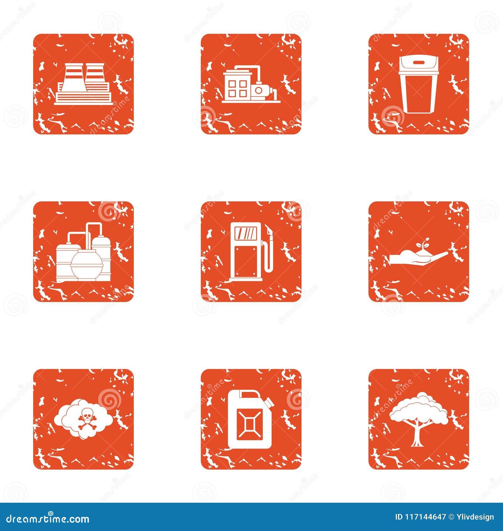 Icone chimiche messe, stile di impresa di lerciume