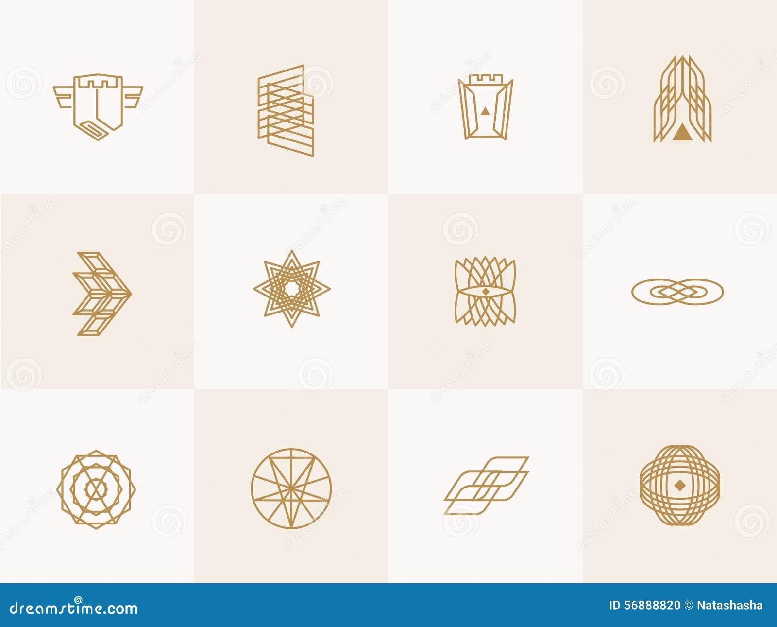 Icone d avanguardia geometriche dei pantaloni a vita bassa