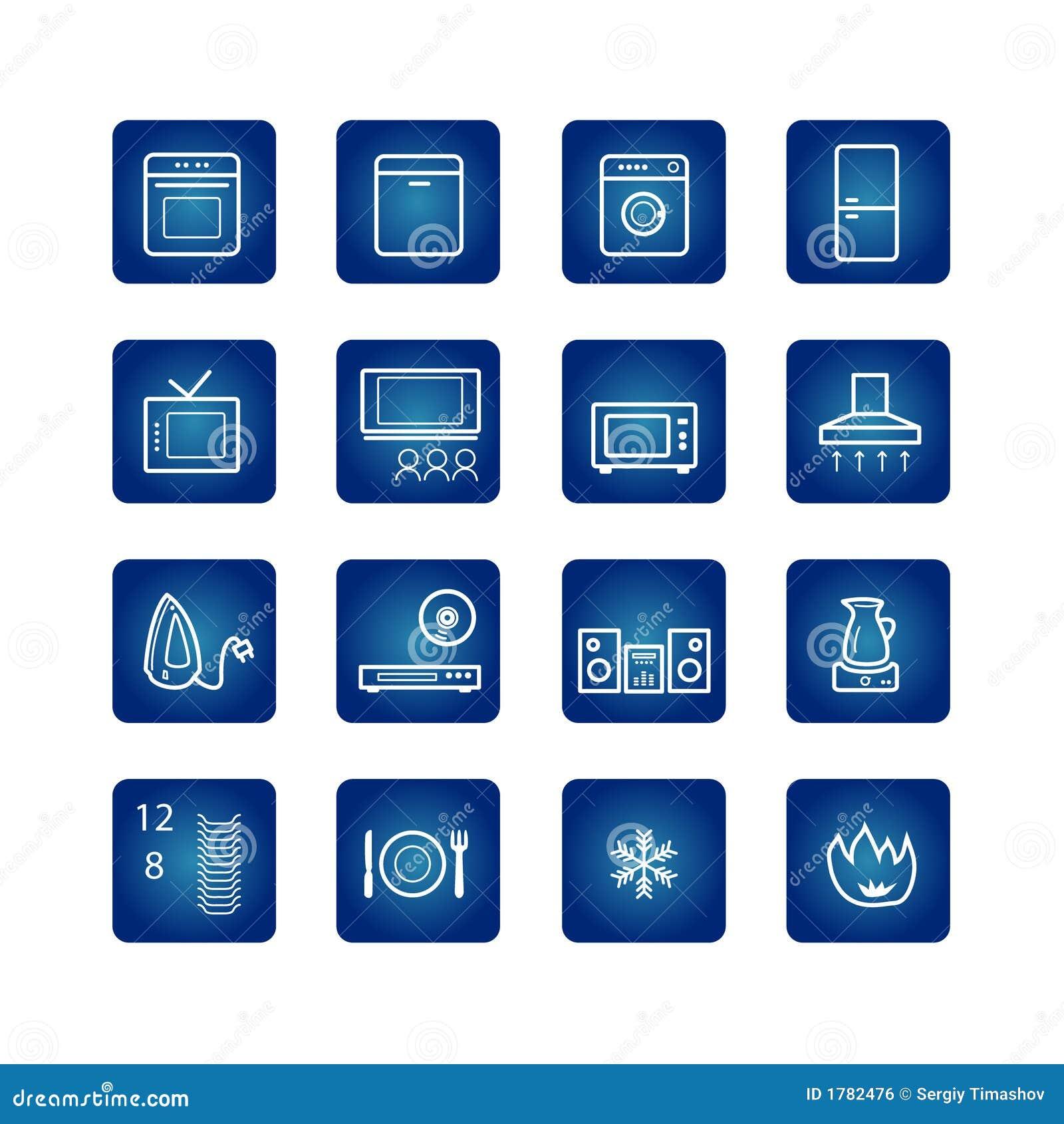 Icone degli elettrodomestici impostate immagine stock - Immagini di elettrodomestici ...