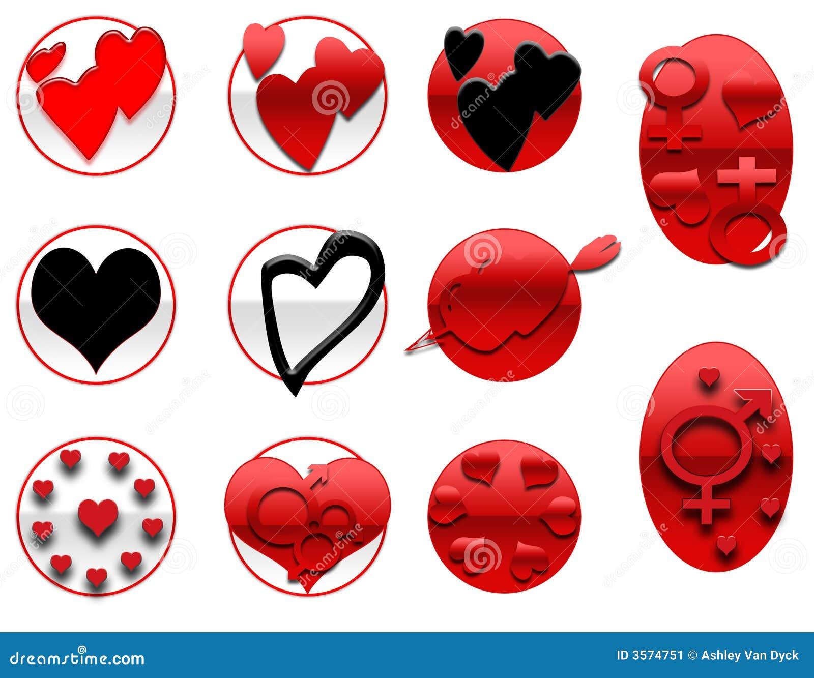 Icone dei biglietti di S. Valentino