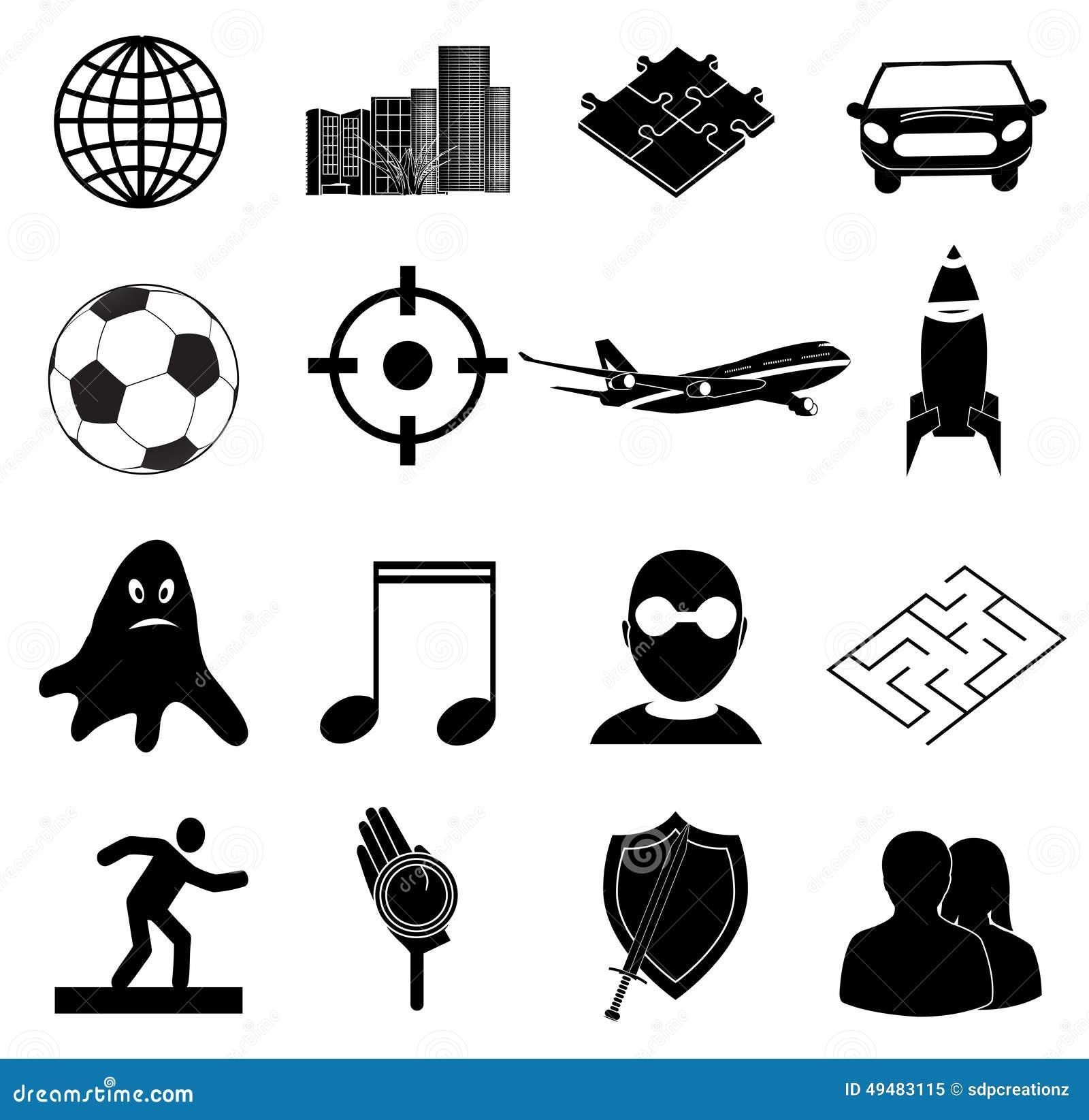 Icone dei giochi messe