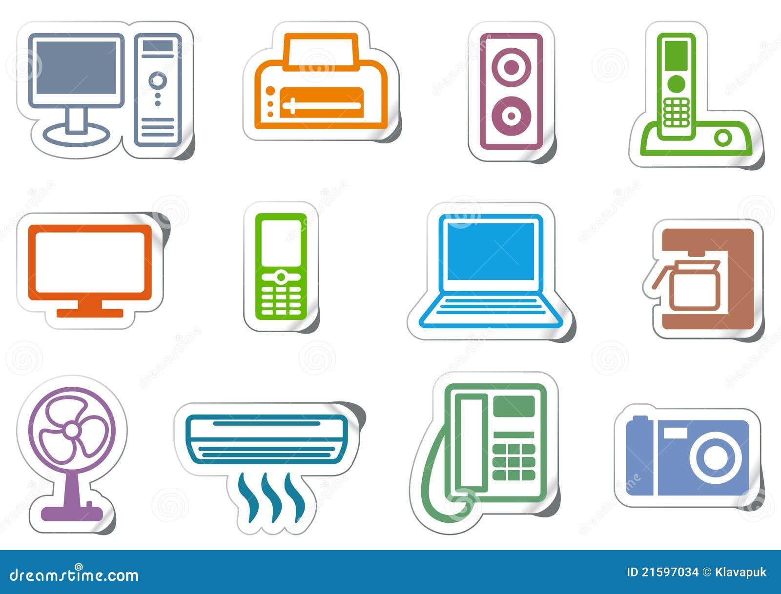 Icone dei mobili d ufficio