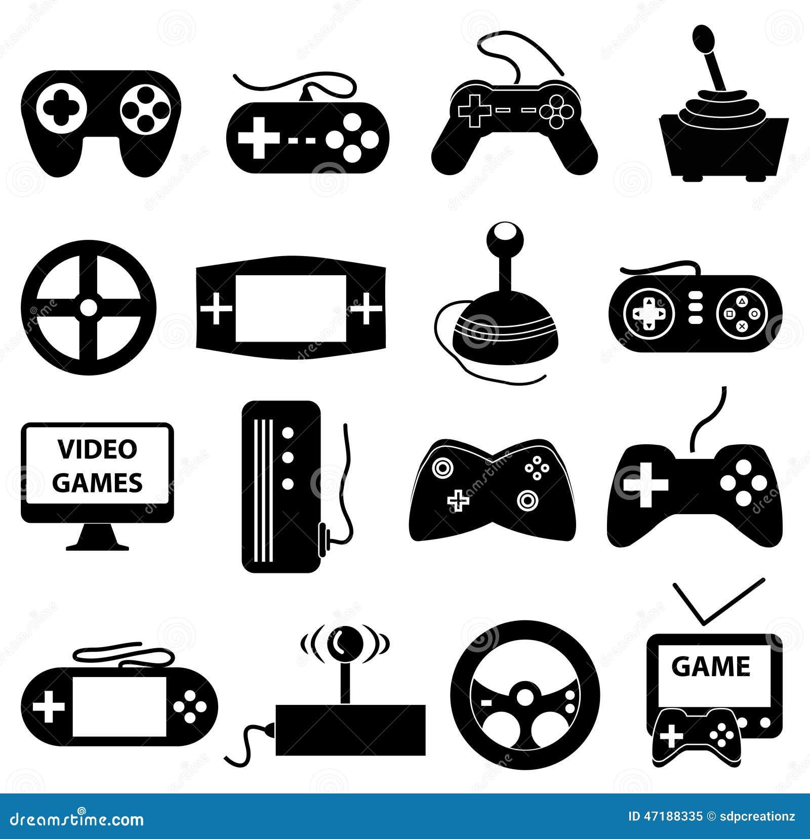 Icone dei video giochi messe