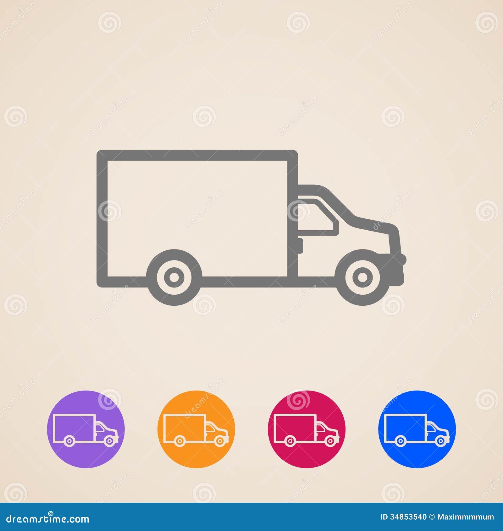 Icone del camion di consegna