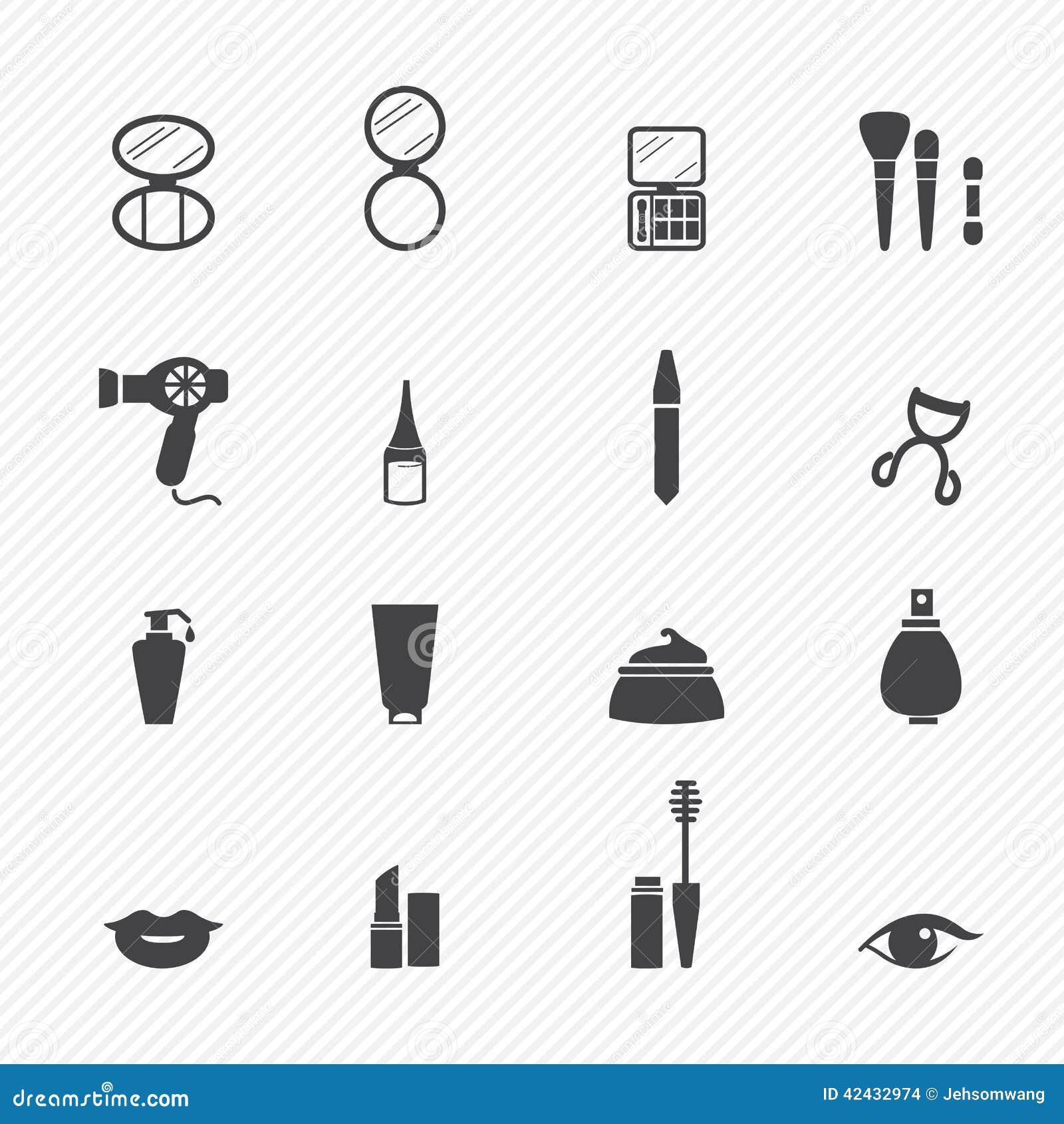 Icone del cosmetico di trucco