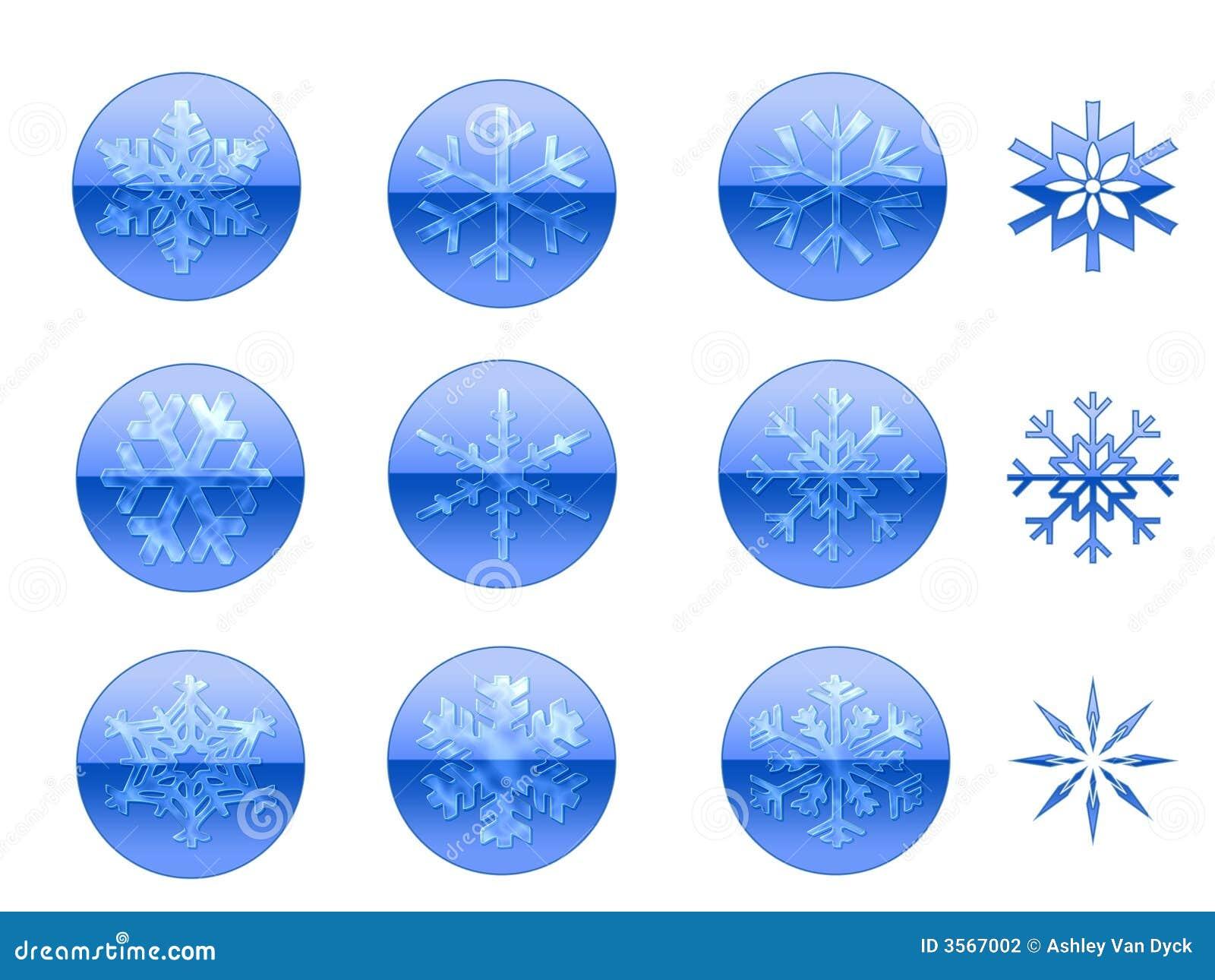Icone del fiocco di neve