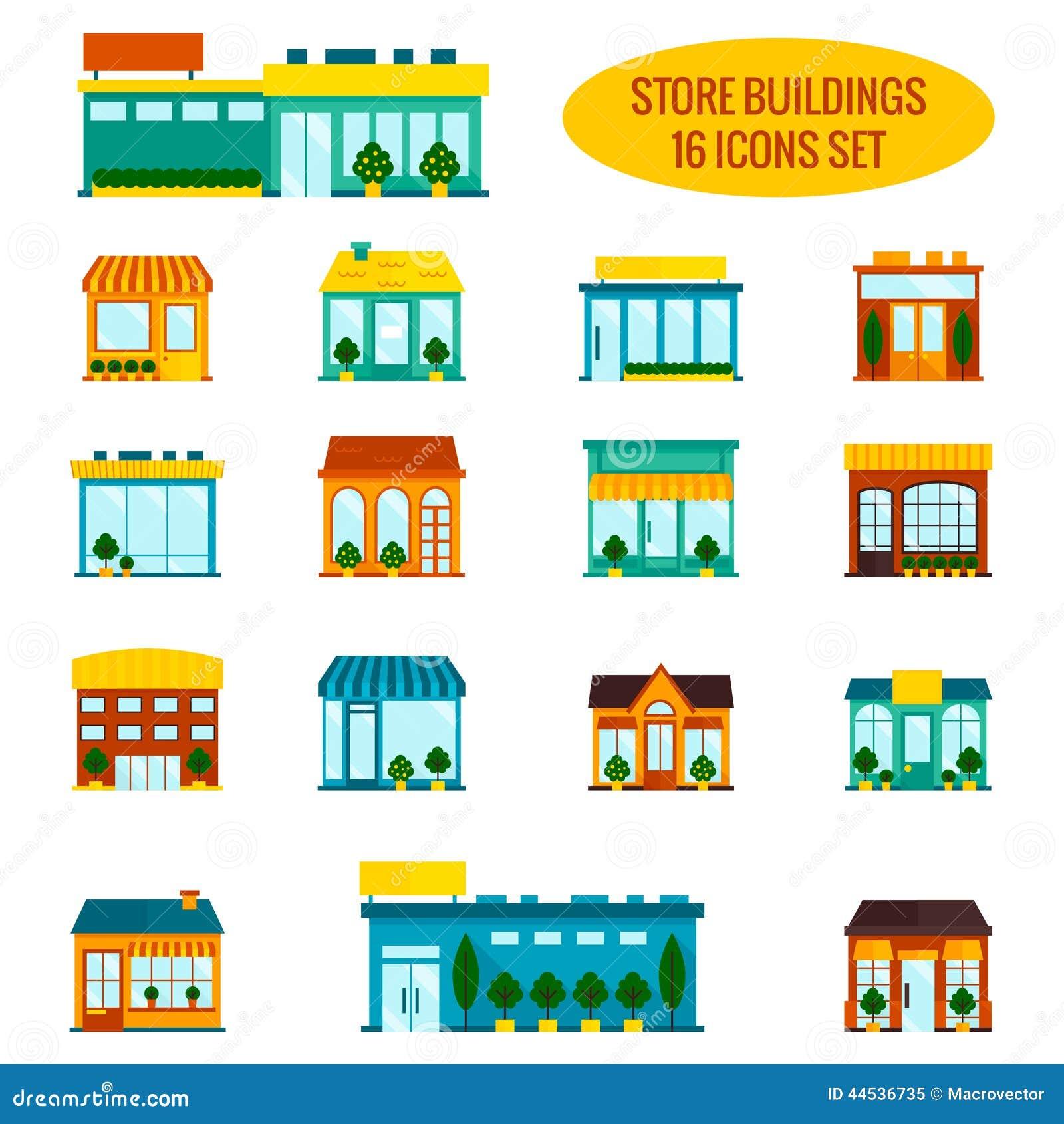 Icone del magazzino messe illustrazione vettoriale for Piano del magazzino