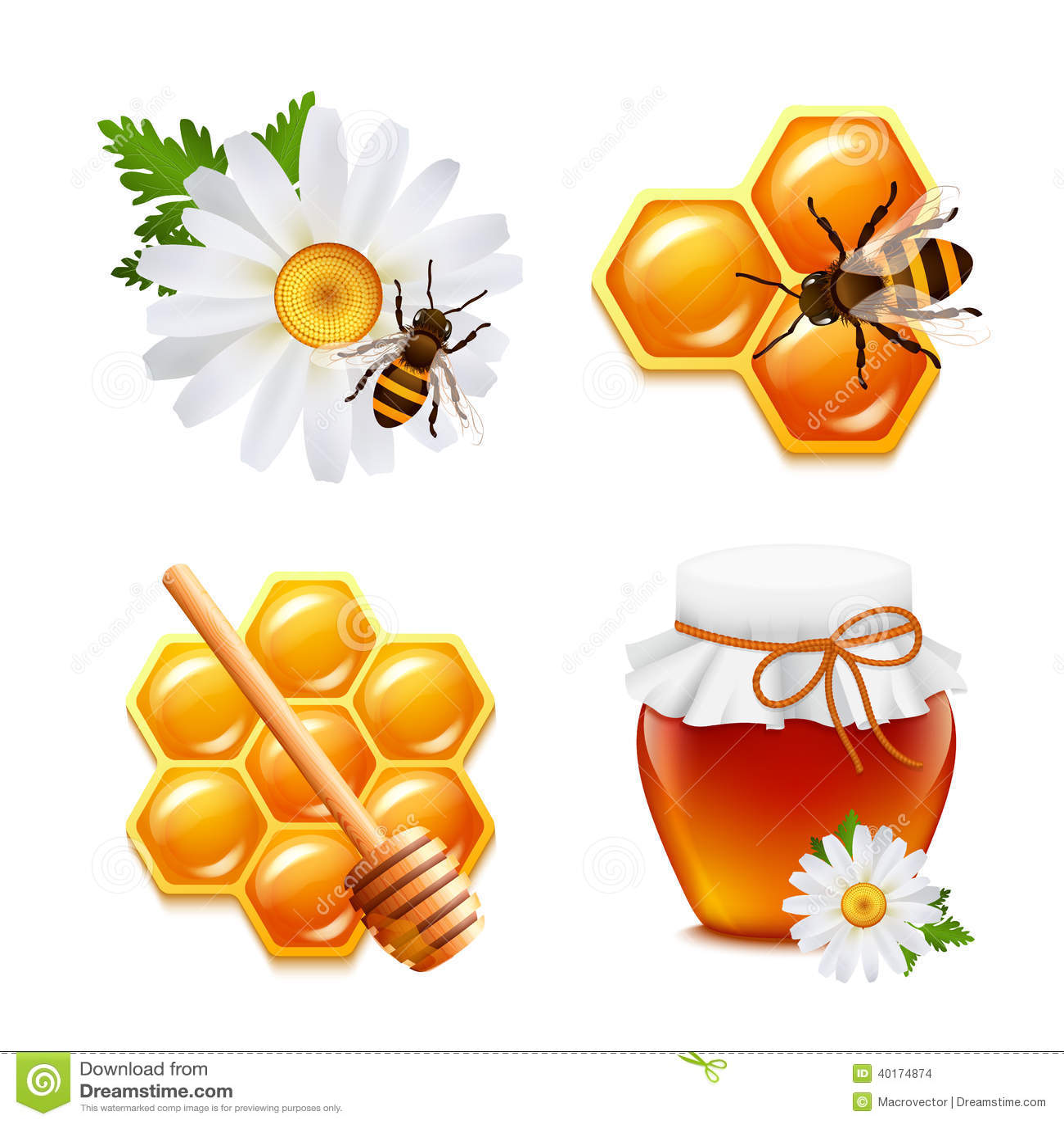 Icone del miele messe