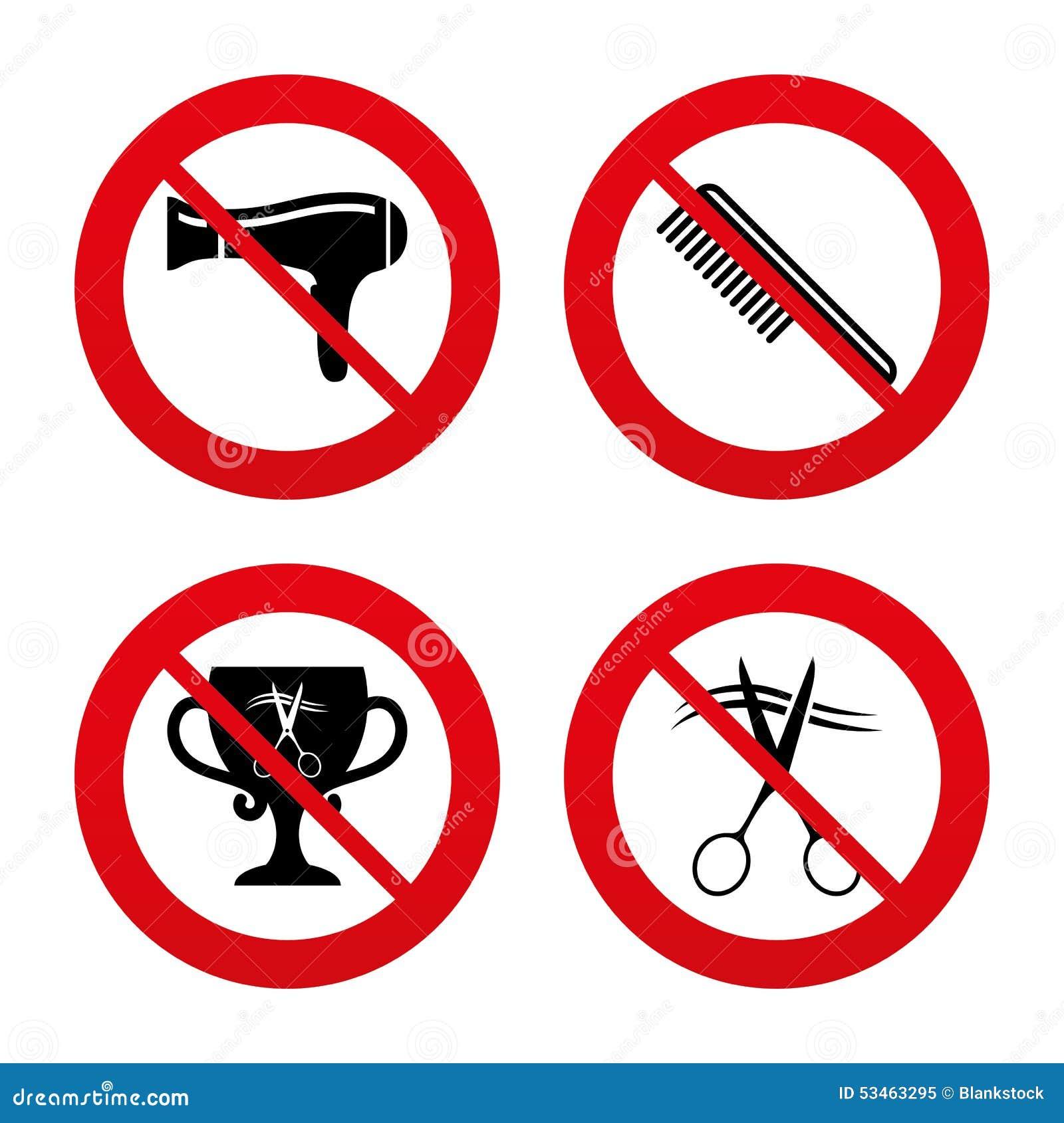 Icone del parrucchiere simbolo dei capelli del taglio di for Simbolo barbiere