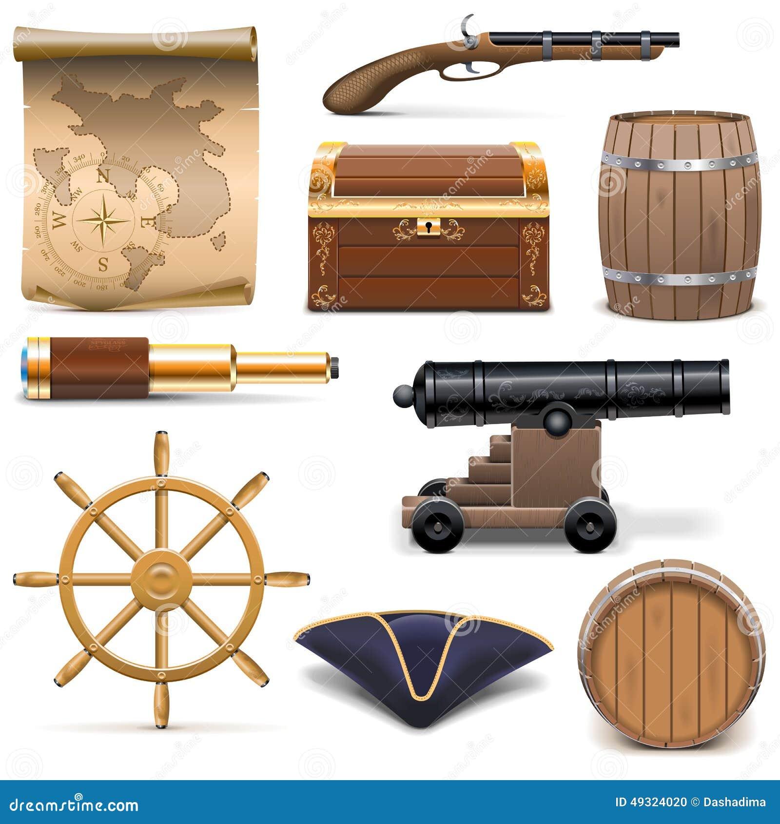 Icone del pirata di vettore