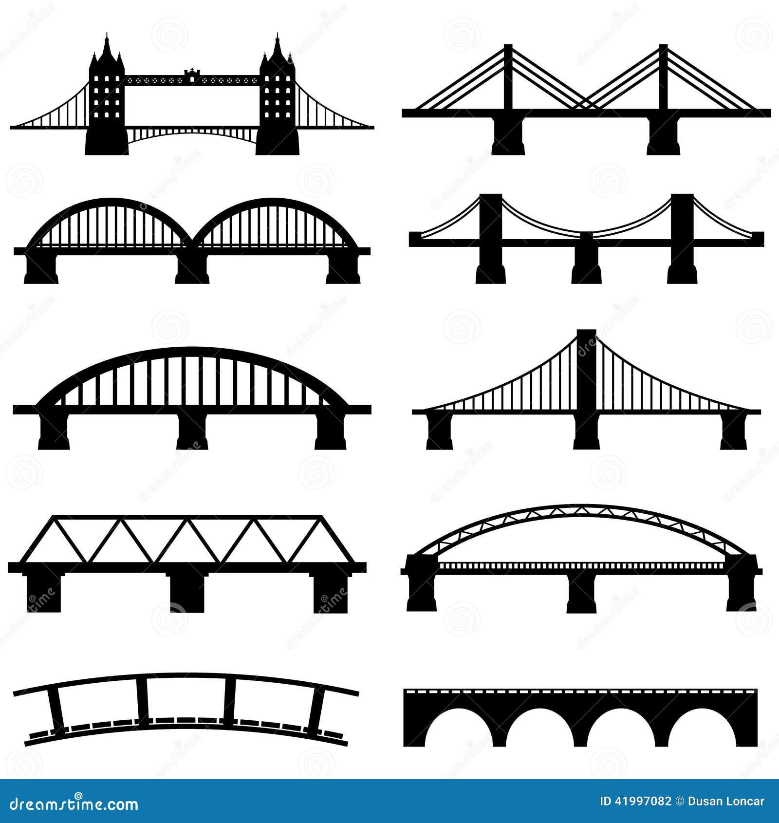 Icone del ponte messe illustrazione vettoriale immagine for Design architettonico gratuito