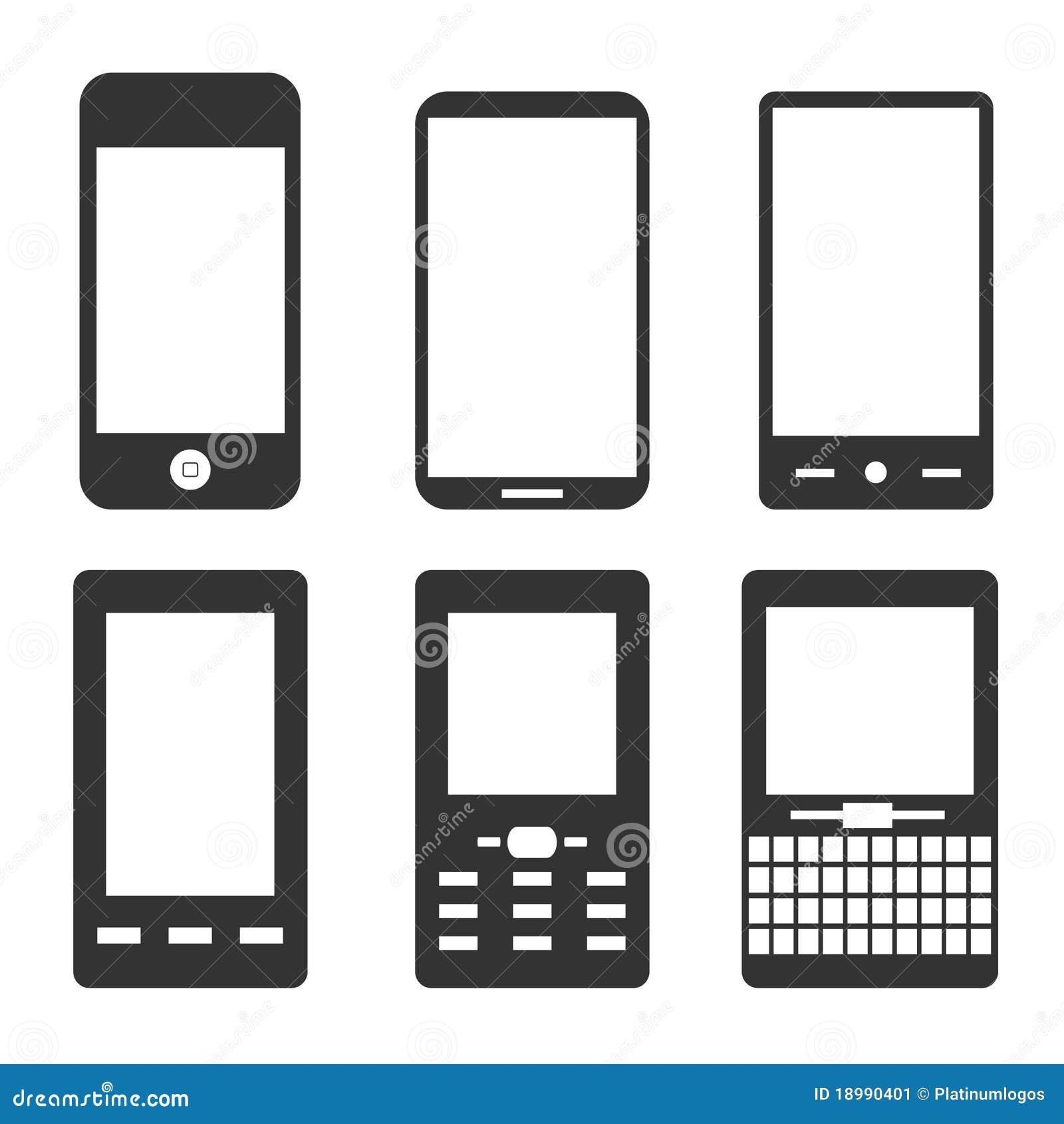 Icone del telefono mobile illustrazione vettoriale for Mobile telefono
