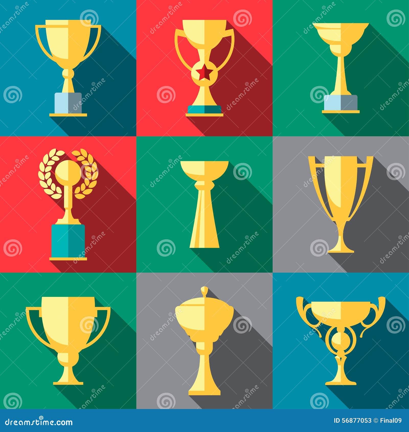 Icone del trofeo Tazza del vincitore