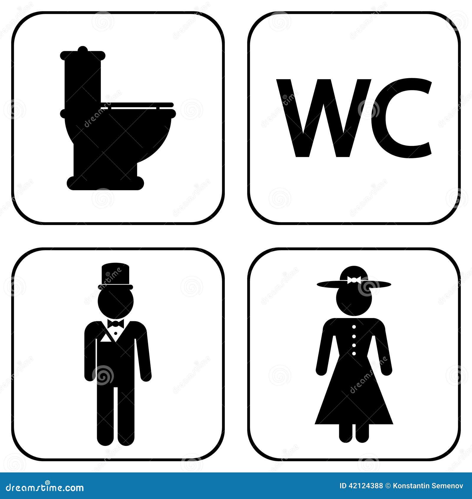 Icone del wc illustrazione vettoriale illustrazione di for Wc immagini
