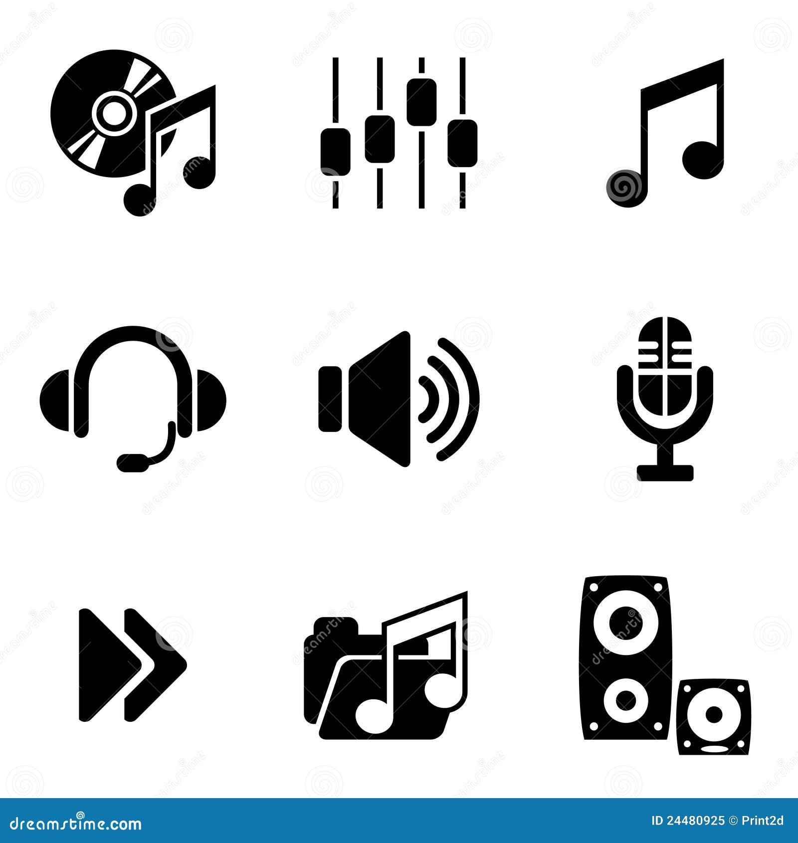 Icone dell audio del calcolatore