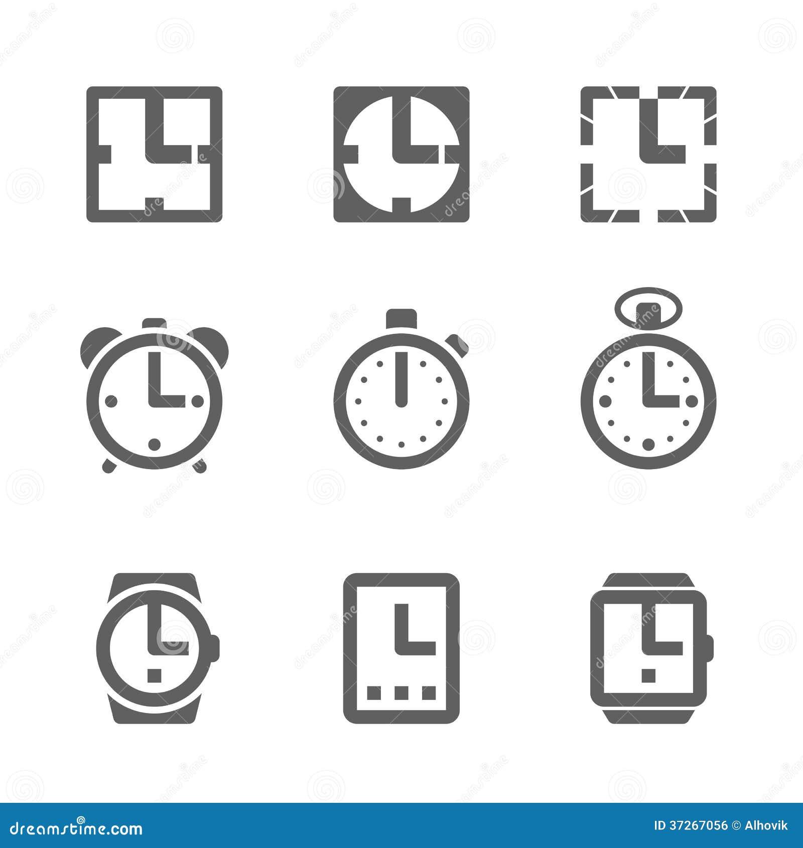 Icone dell orologio