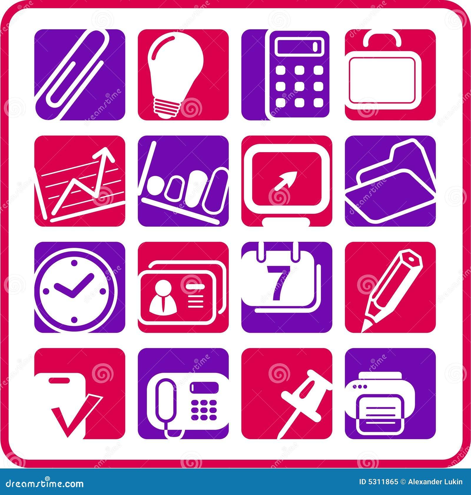 Download Icone dell'ufficio illustrazione vettoriale. Illustrazione di clip - 5311865