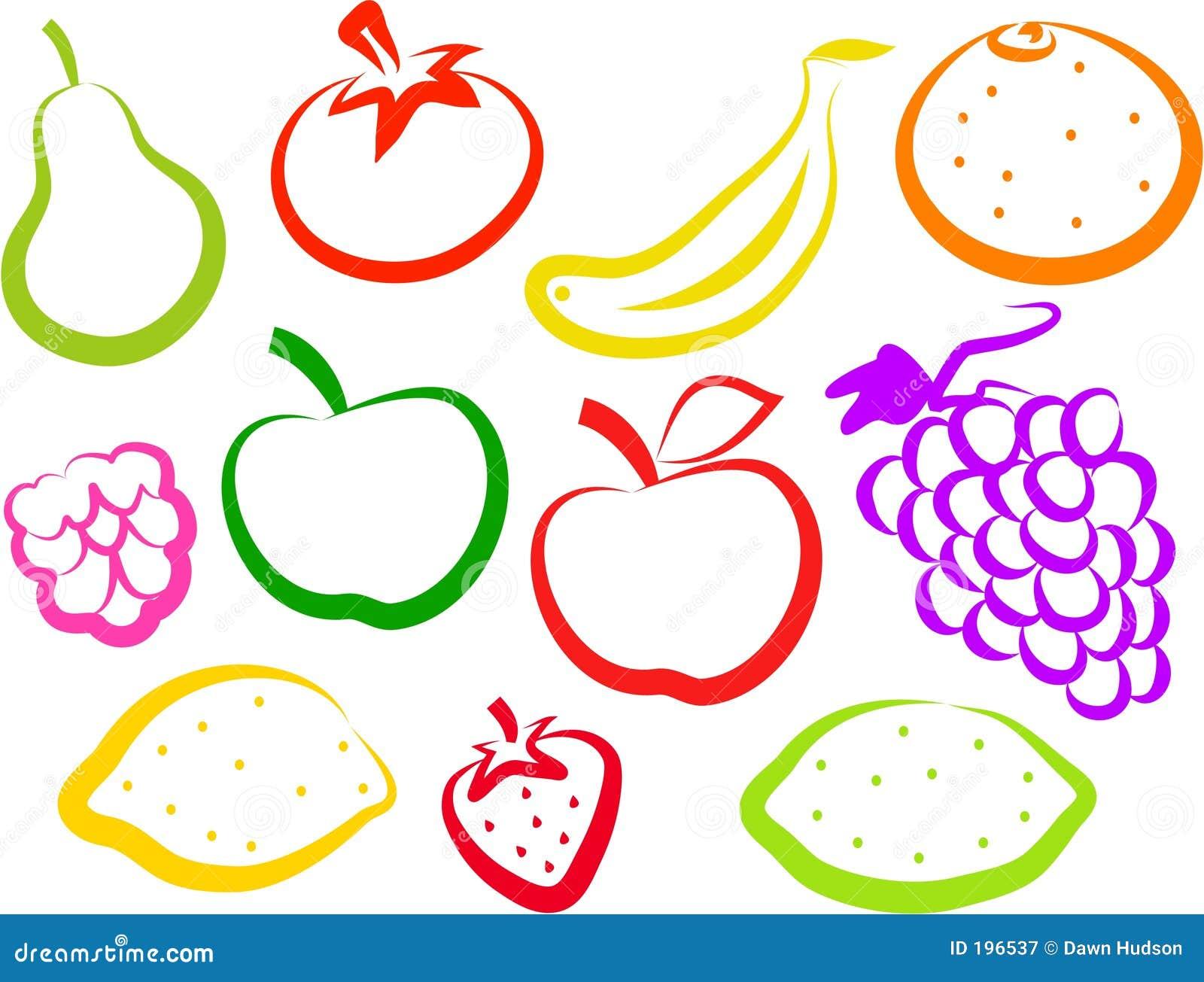 Icone della frutta illustrazione vettoriale illustrazione for Clipart frutta