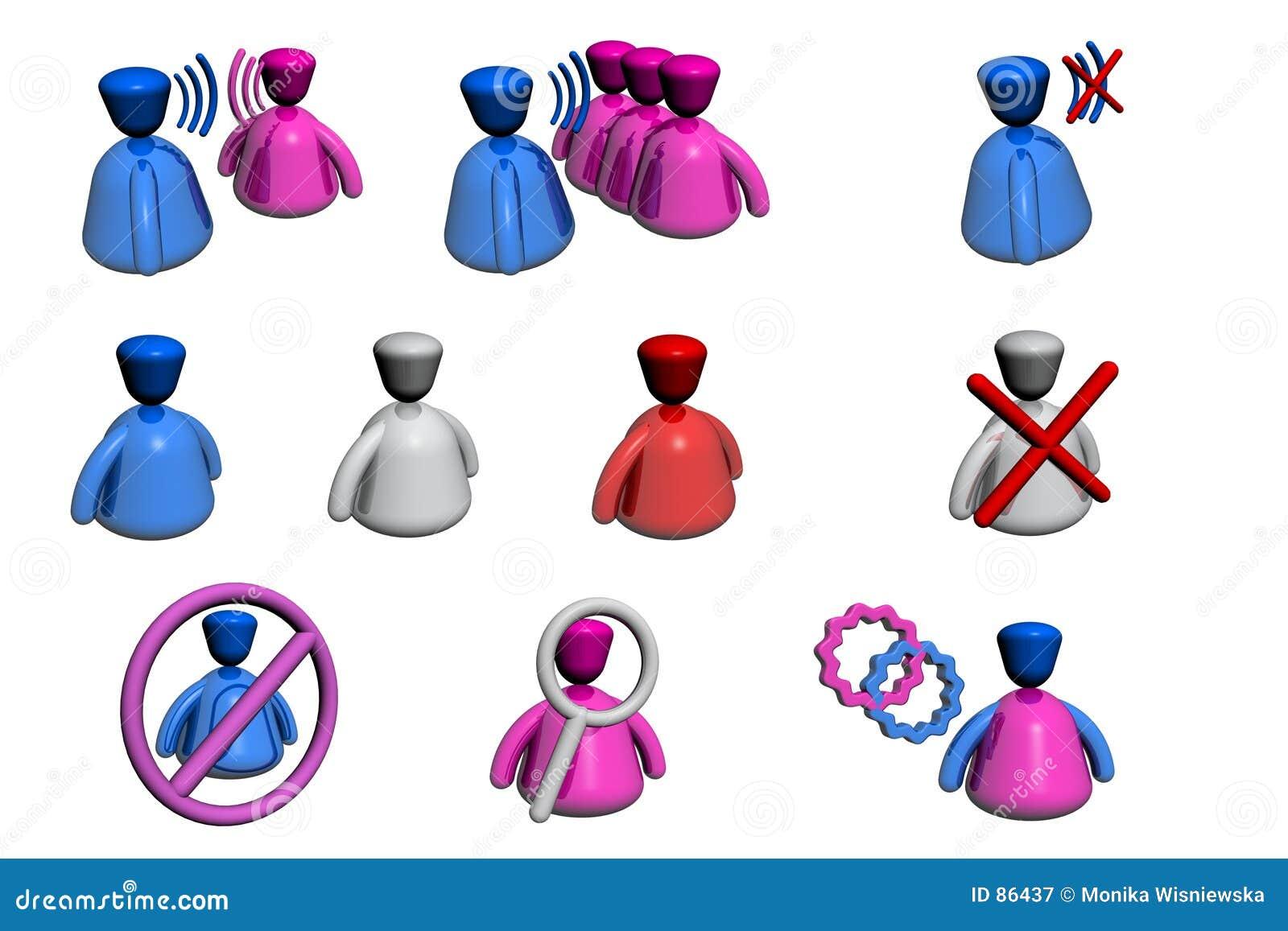 Icone della gente - chiacchierata/tribuna - vista di prospettiva