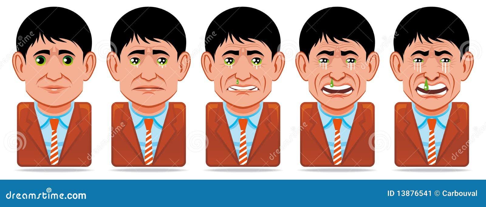 Icone della gente dell incarnazione (espressione facciale: tristezza)