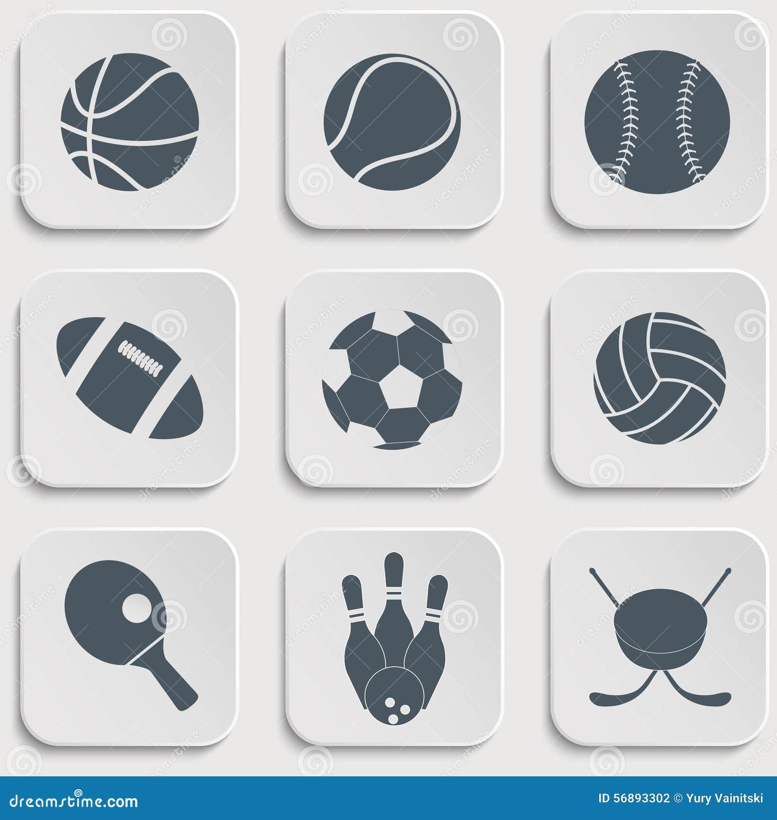 Icone della palla di sport