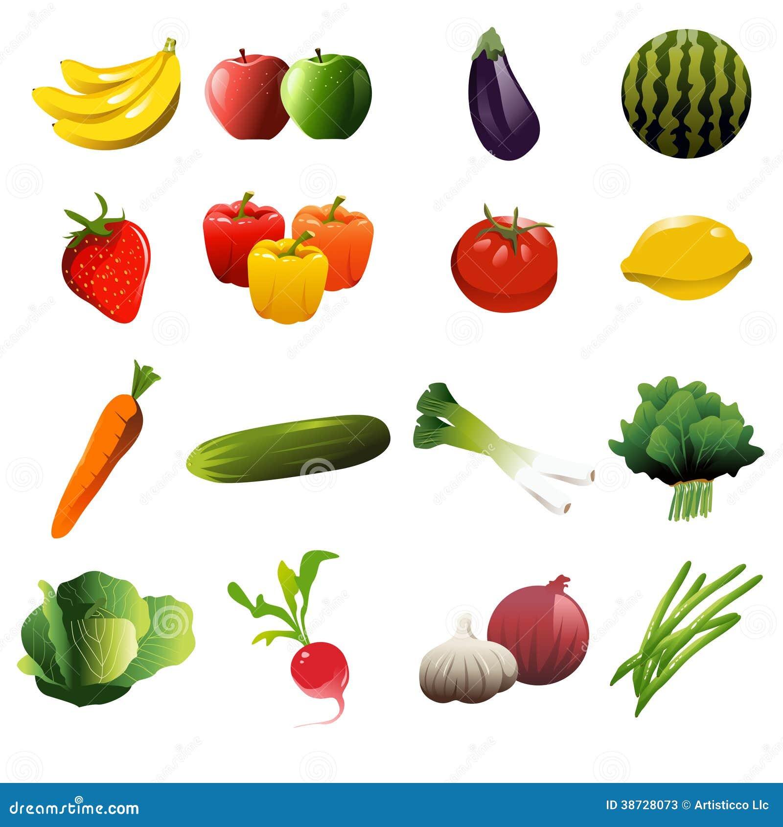 Icone della verdura e della frutta illustrazione for Clipart frutta