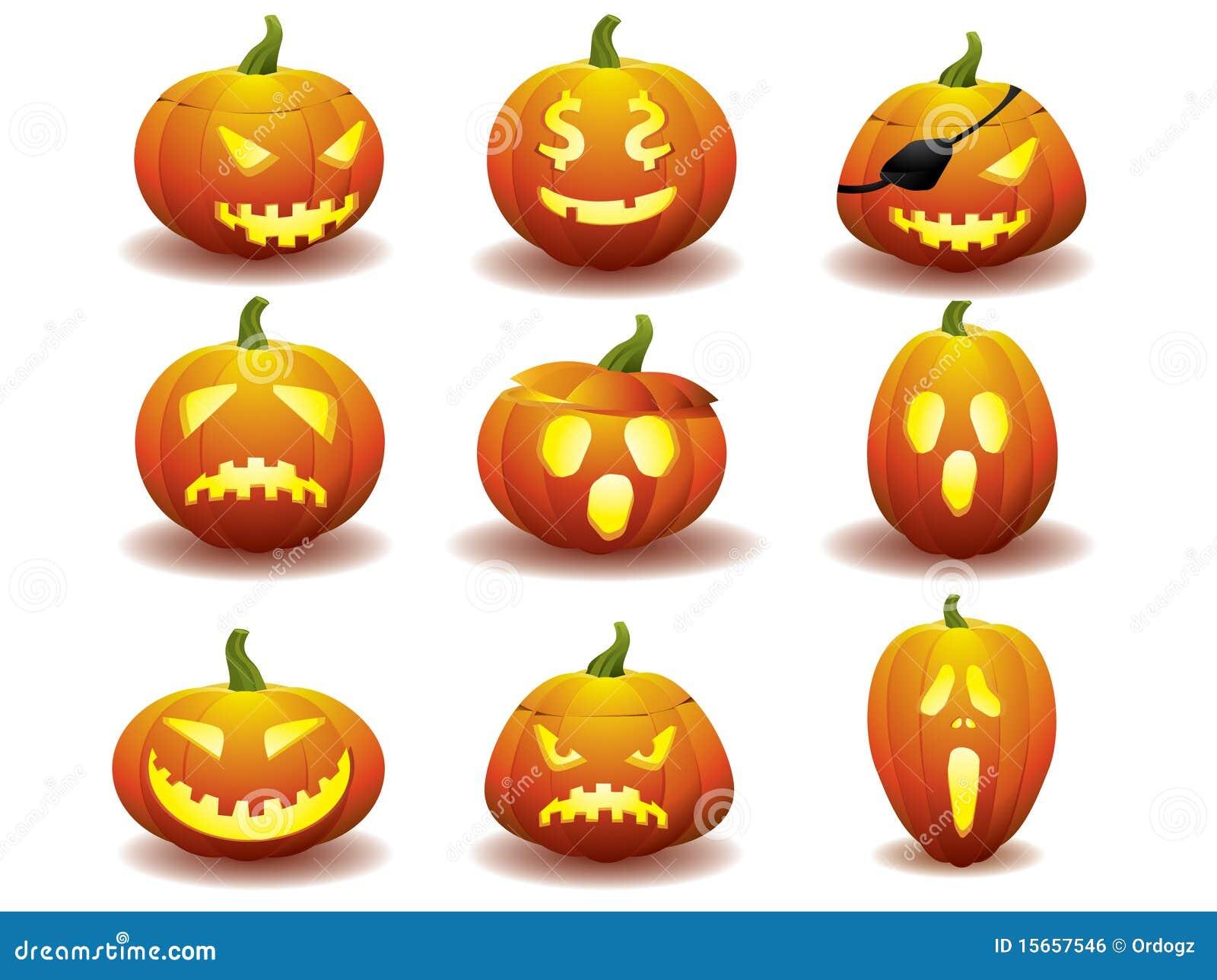 Icone della zucca di halloween immagine stock libera da for Zucca di halloween disegno