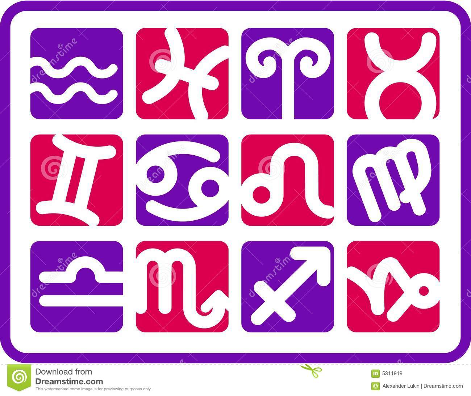 Download Icone dello zodiaco illustrazione vettoriale. Illustrazione di ipotesi - 5311919