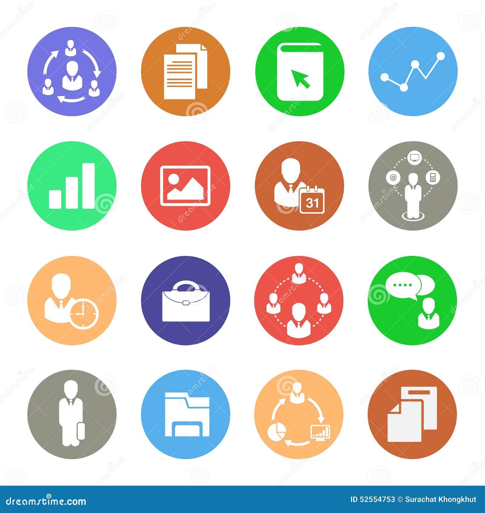 Icone di affari, icone di web messe
