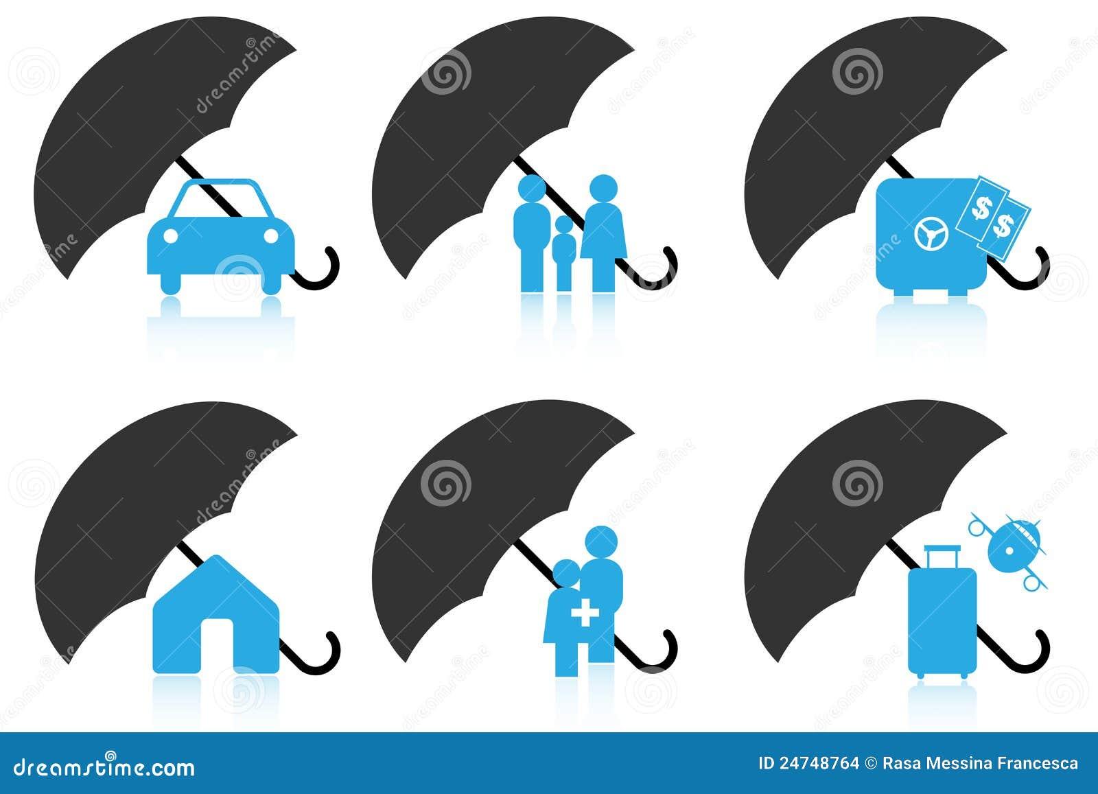 Icone di assicurazione immagini stock immagine 24748764 for Assicurazione domestica
