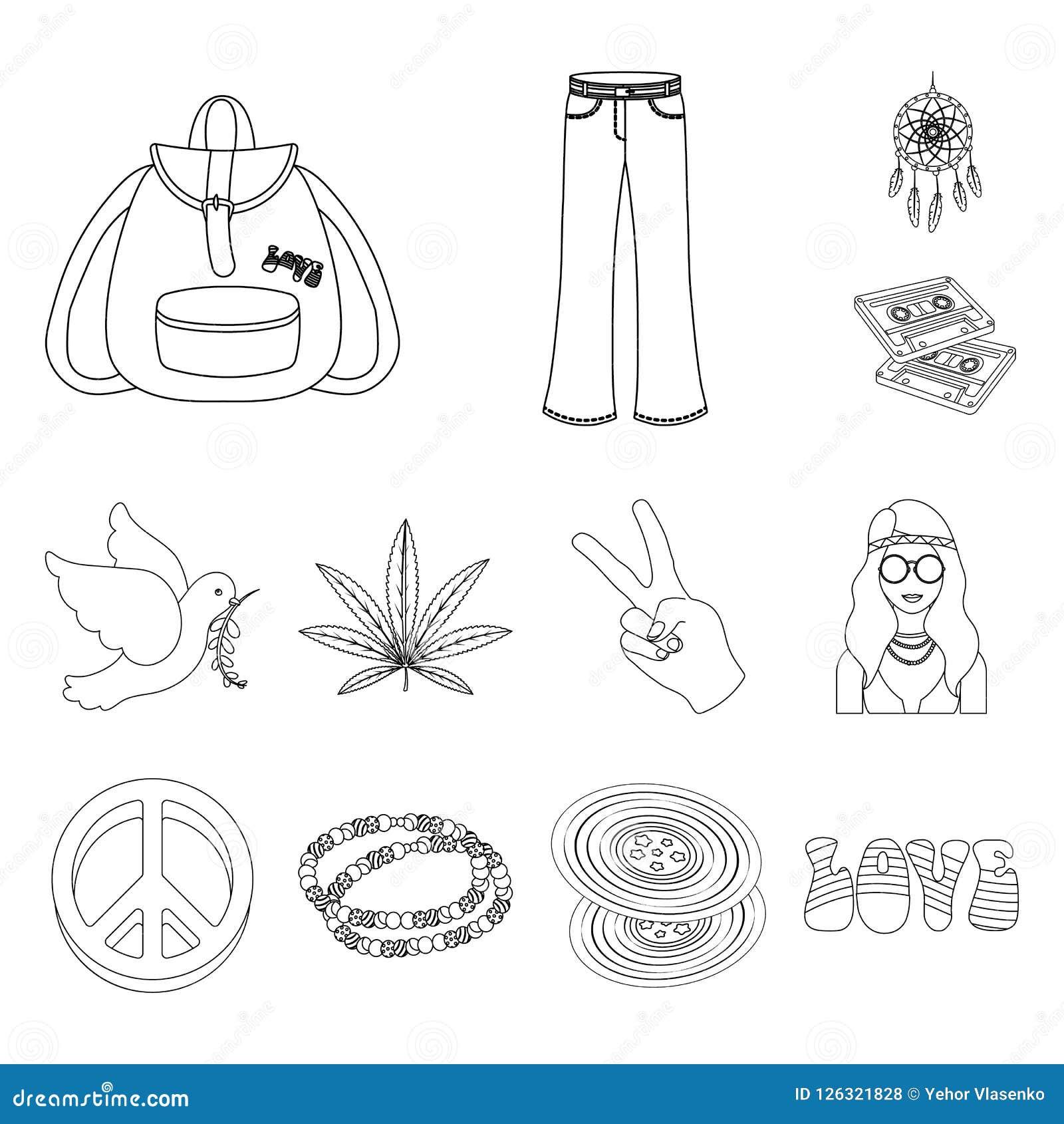 Icone di attributo e felici del profilo nella raccolta dell insieme per progettazione Web degli accessori e felice di vettore di
