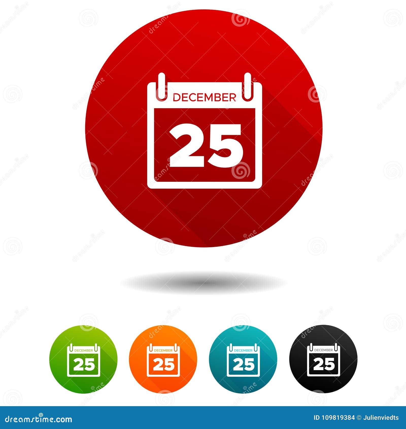 Simbolo Calendario.Icone Di Natale Segni Del Calendario Simbolo Di Festa