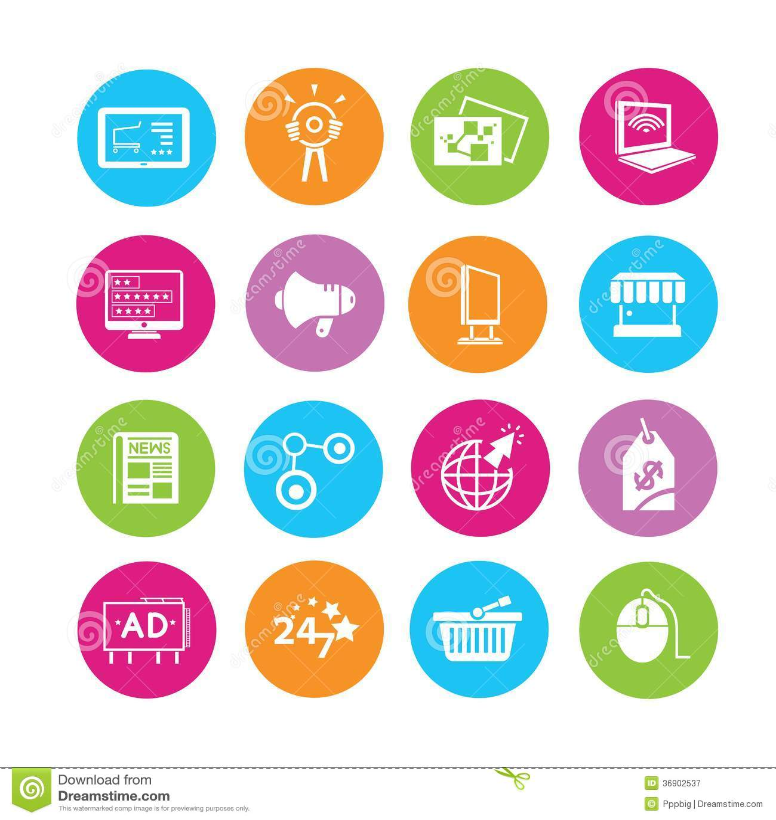 Icone di pubblicità