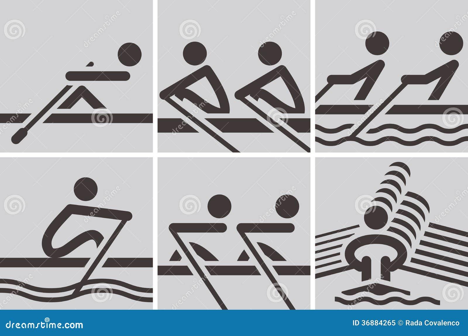 Download Icone di rematura illustrazione vettoriale. Illustrazione di remi - 36884265