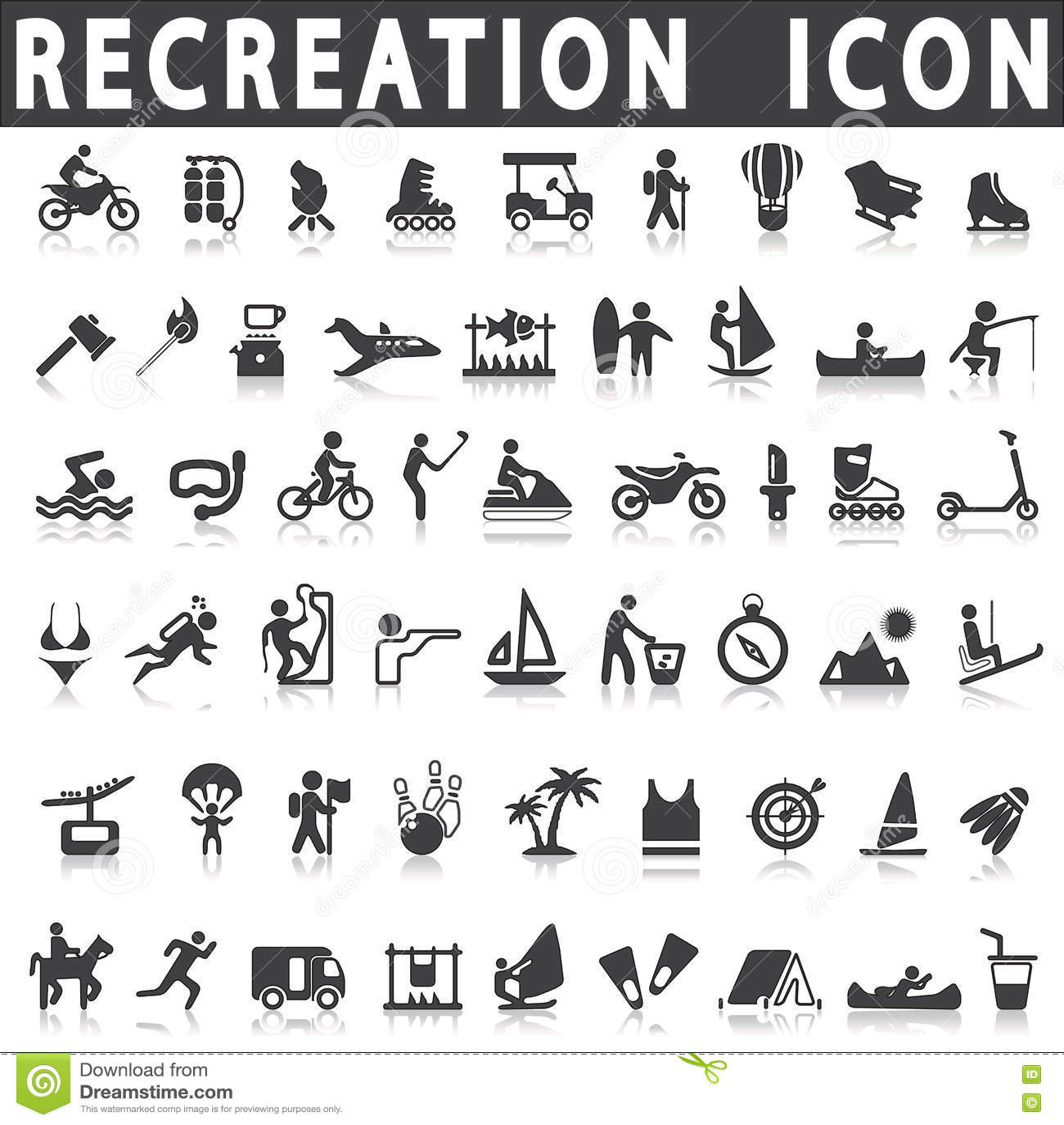 Icone di ricreazione