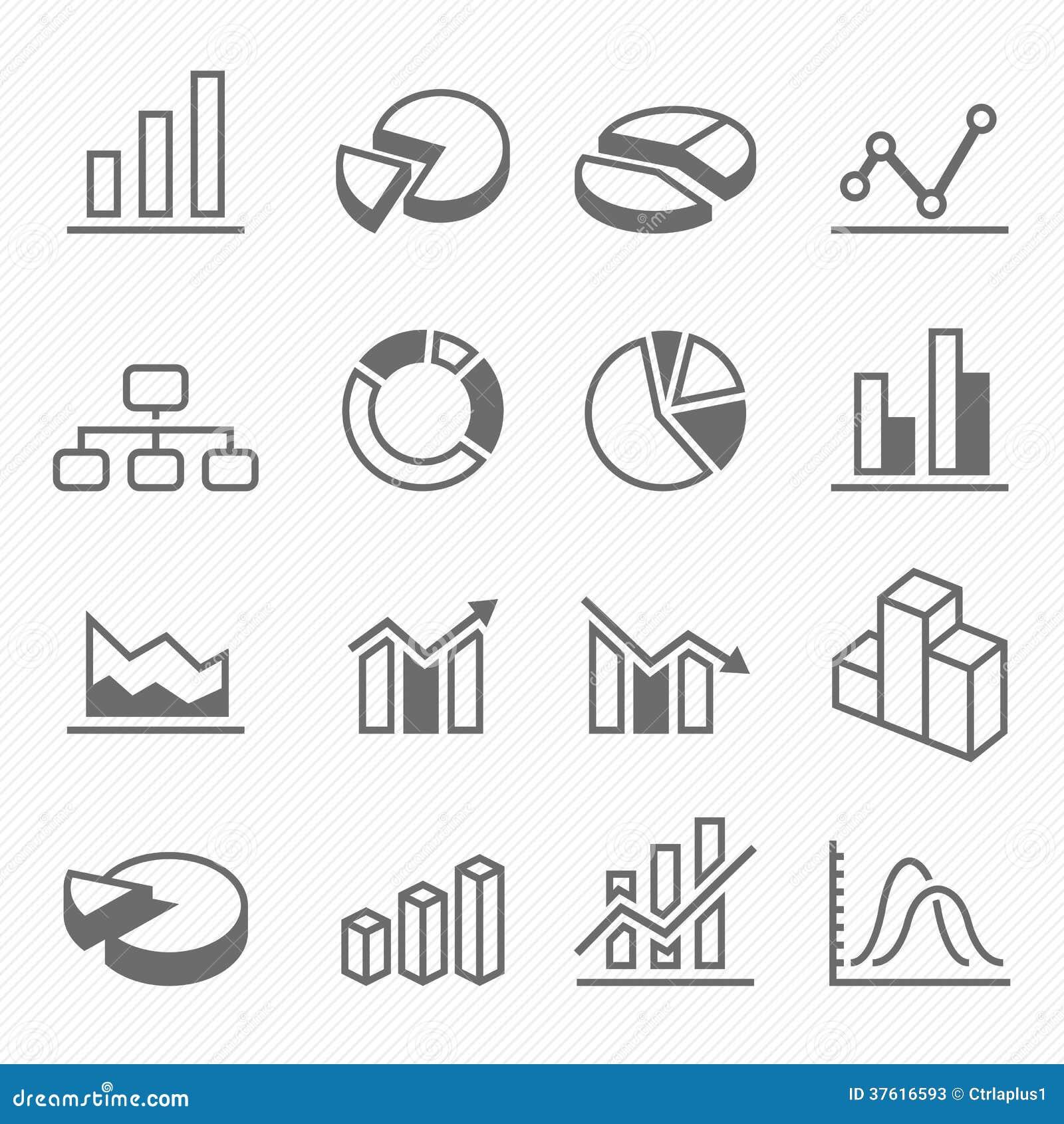 Icone di simbolo del colpo del profilo del grafico