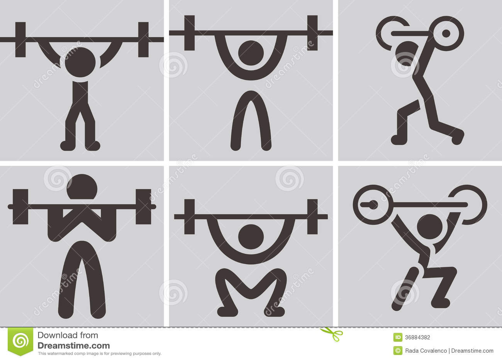 Download Icone di sollevamento pesi illustrazione vettoriale. Illustrazione di isolato - 36884382