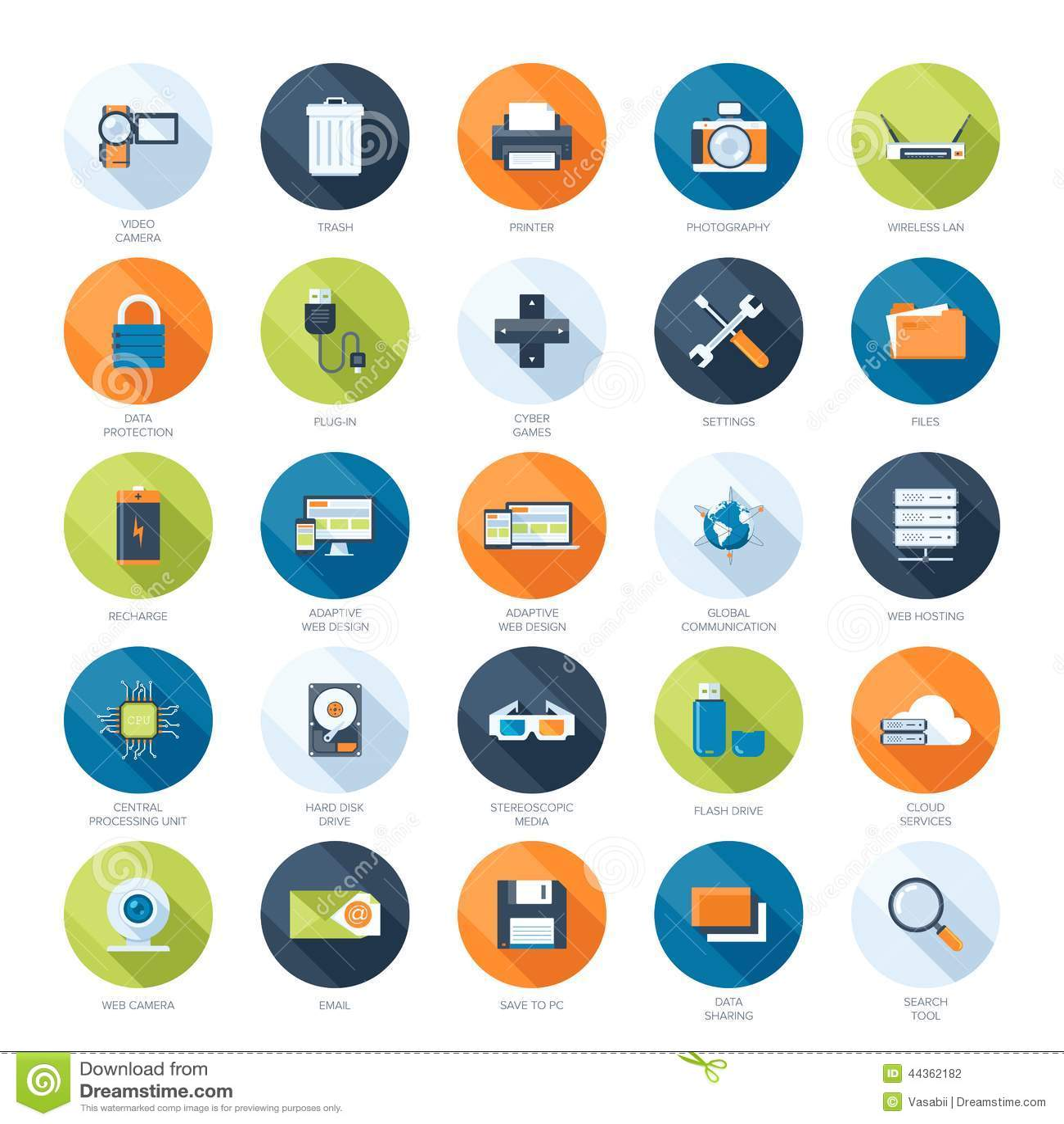 Icone di tecnologia
